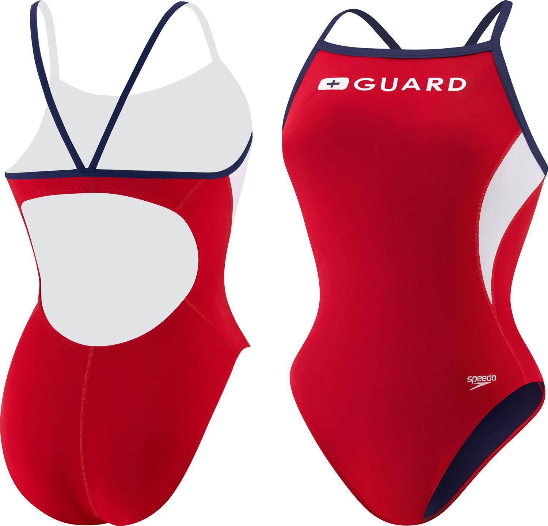 7fca92dfa Lyst - Speedo Guard Energy Back Swimsuit in Red