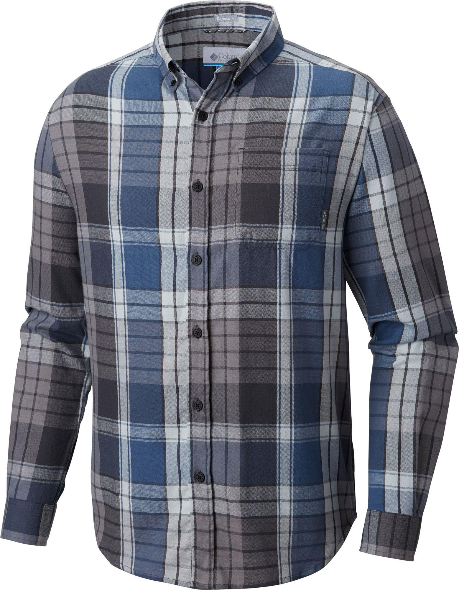 143a5fd01f8 Lyst - Columbia Long-sleeve Plaid Shirt in Blue for Men - Save 62%