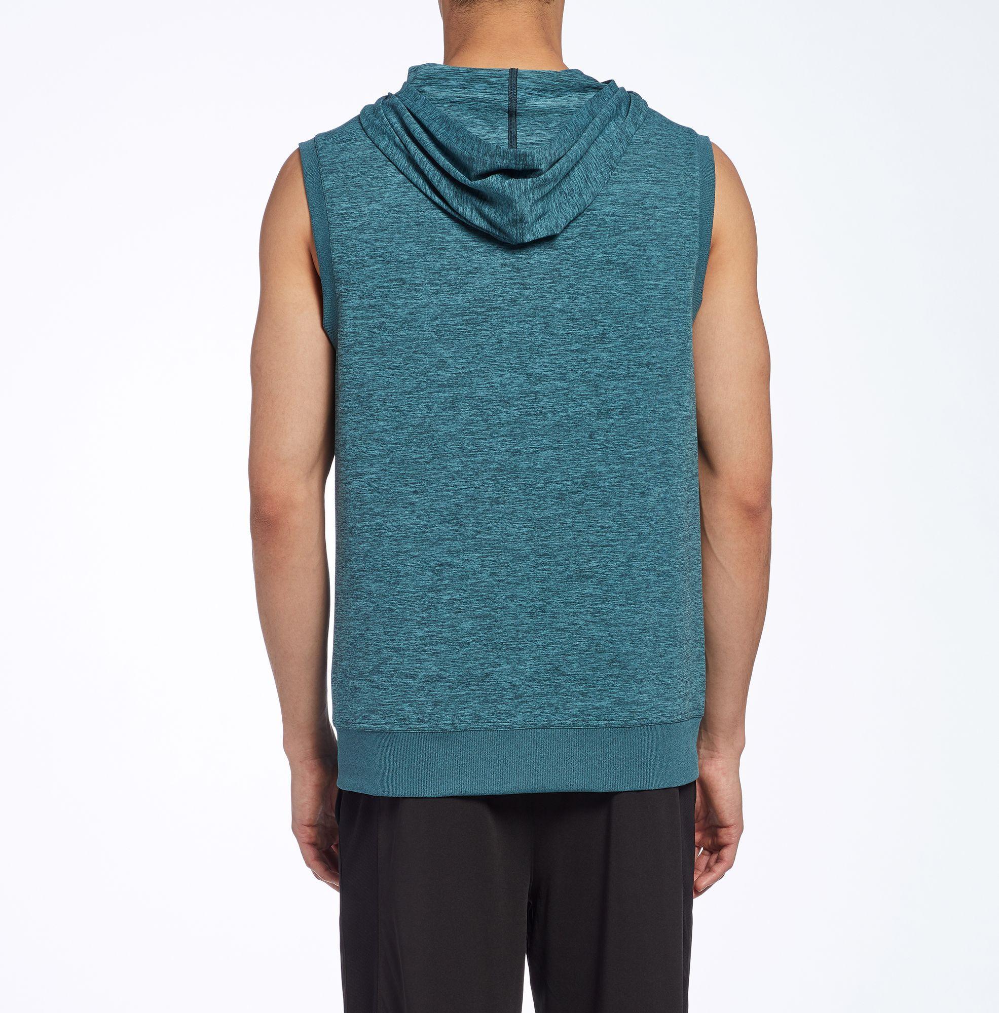 94ae34117e7bd Lyst - Reebok 24 7 Jersey Sleeveless Hoodie in Blue for Men