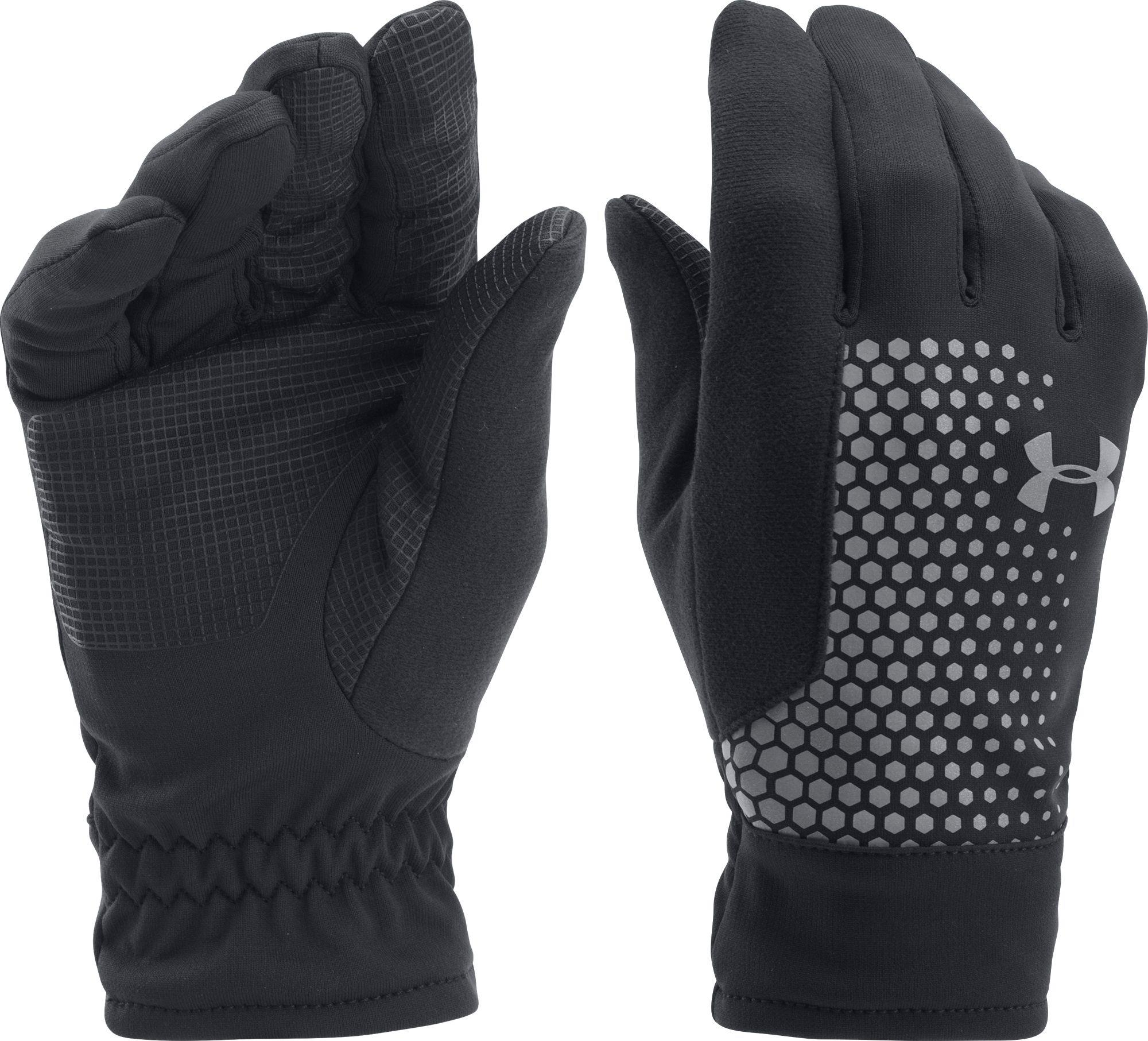 implícito Señora sexo  Under Armour Fleece Threadborne Running Gloves in Black/Black/Silver  (Black) for Men - Lyst