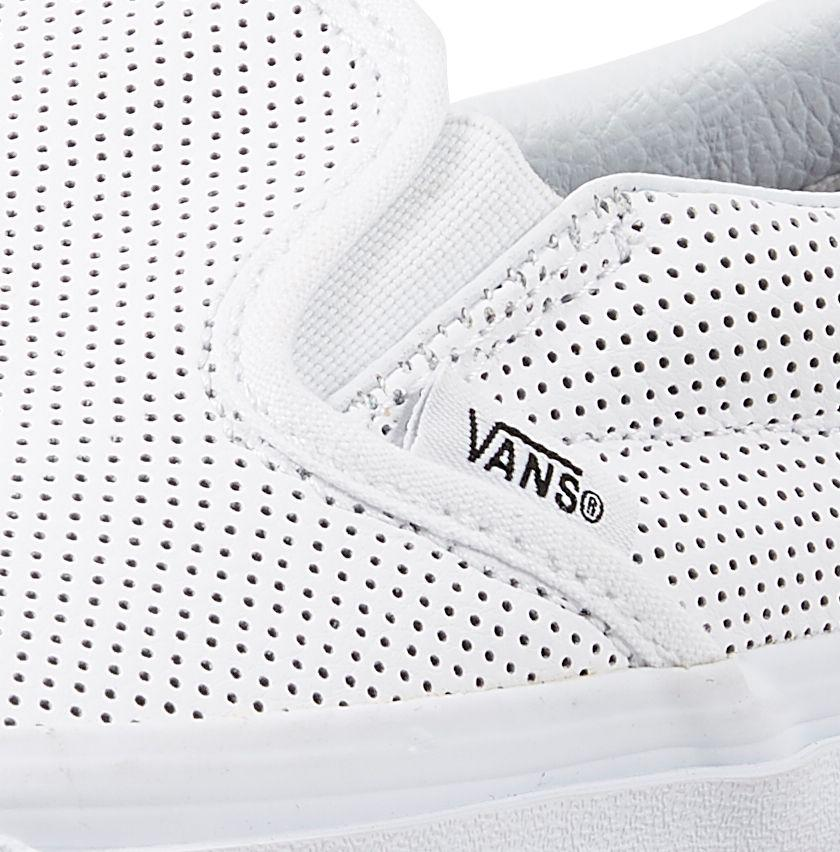 3df0442a26b Lyst - Vans Perf Leather Slip-on Shoes in White