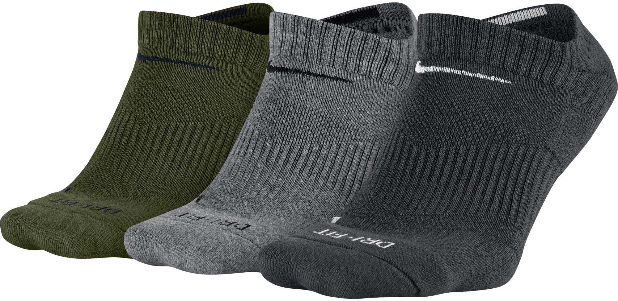c95806386eb79e Nike Dri-fit Half Cushion No Show Socks 3 Pack in Gray for Men - Lyst
