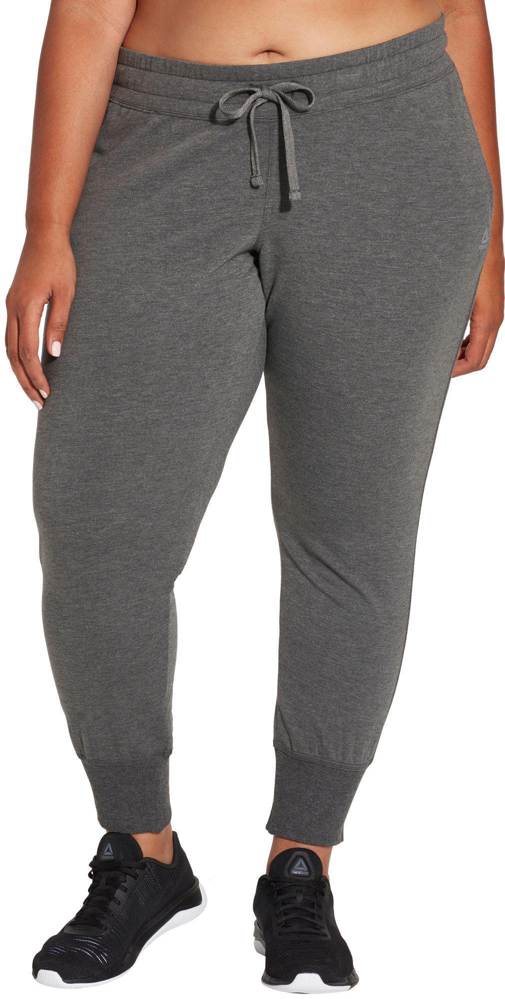 cd163dad7c7fe4 Lyst - Reebok Plus Size Fleece Jogger Pants in Gray