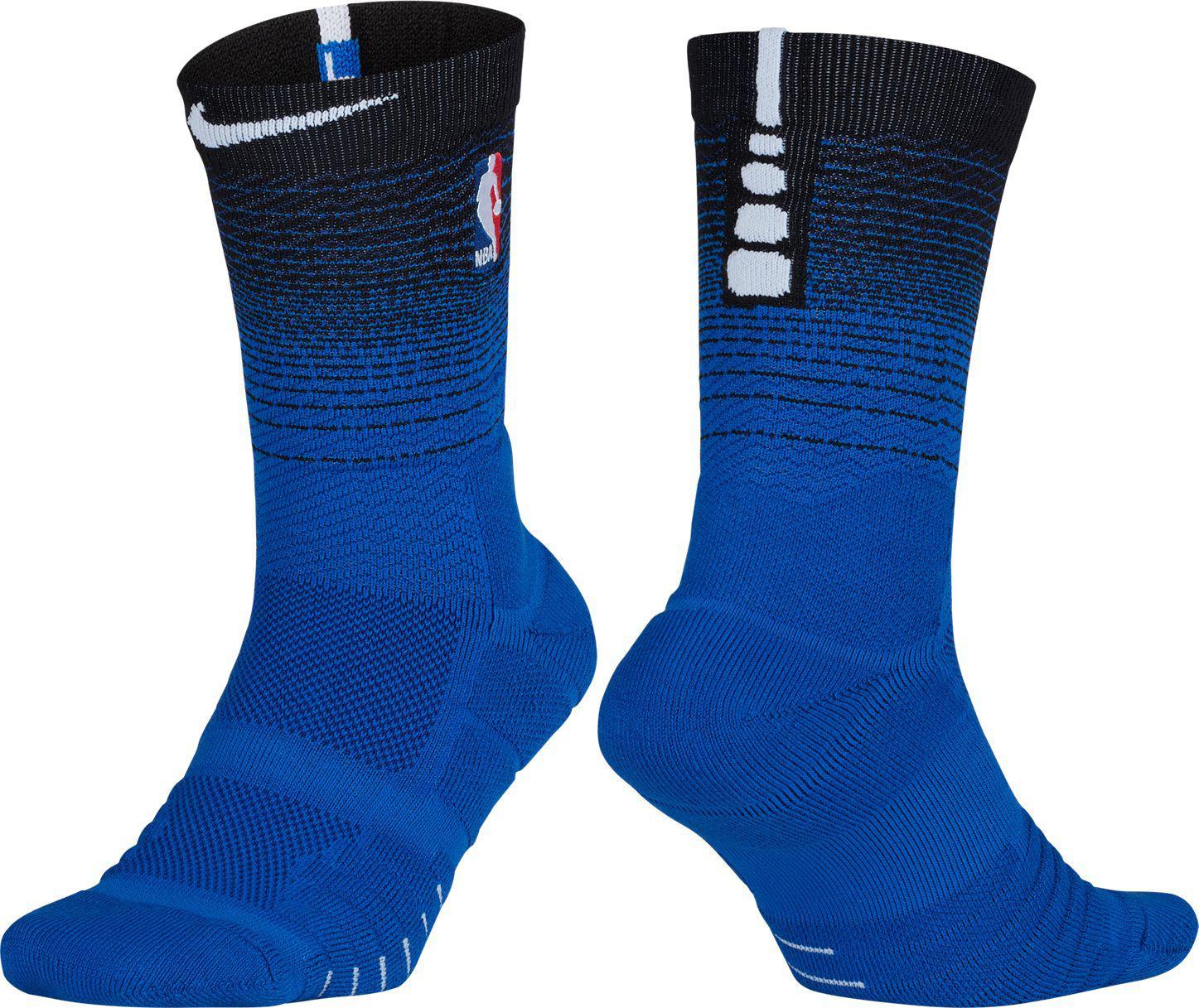 quality design ec345 2a02e Men's Blue Orlando Magic City Edition Elite Quick Nba Crew Socks