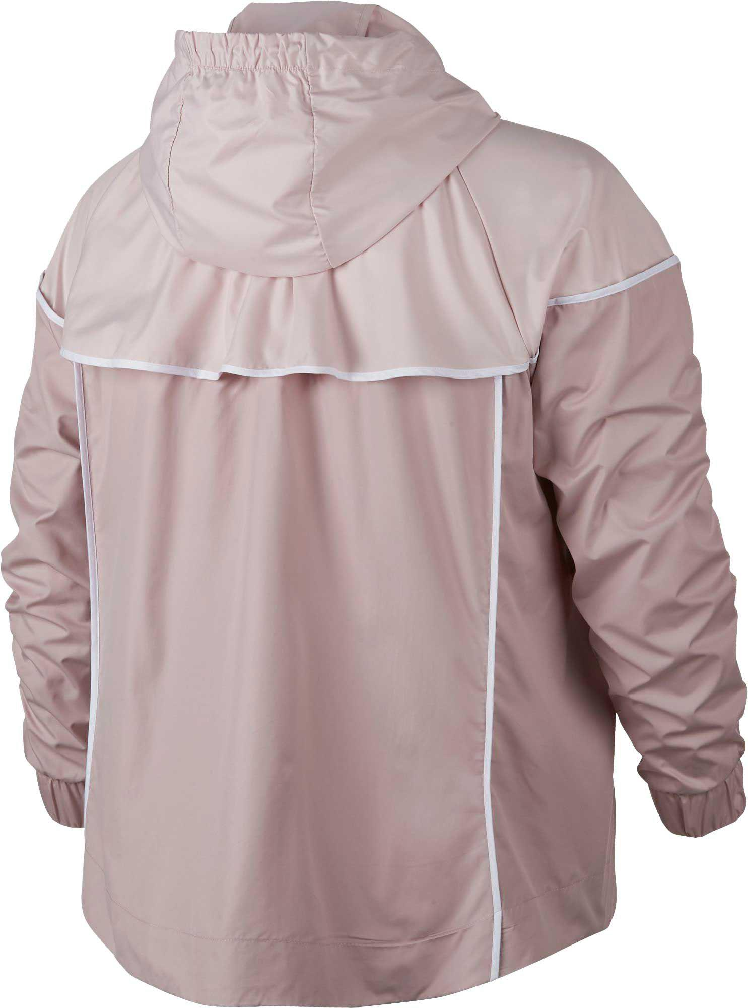 f768c72dbd5 Lyst - Nike Plus Size Sportswear Windrunner Jacket in Pink