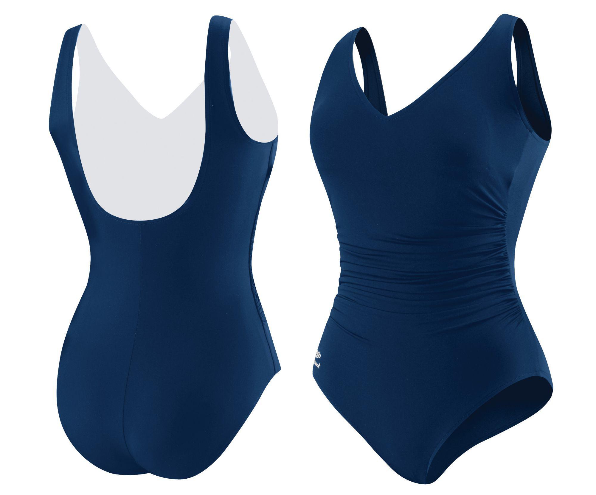 044f3313bfb40 Lyst - Speedo Endurance+ Side Shirred Contourback Swimsuit in Blue
