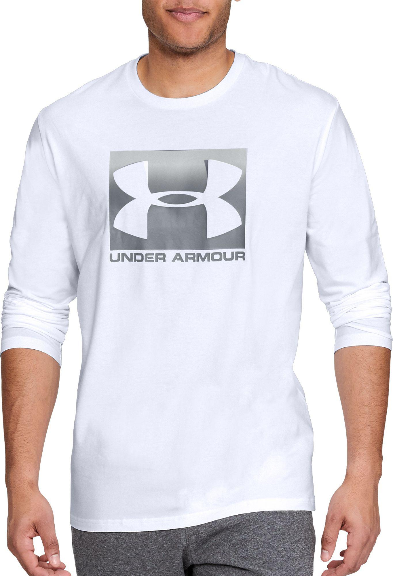 76758e1f Under Armour - White Oxed Sportstyle Long Sleeve Shirt for Men - Lyst. View  fullscreen