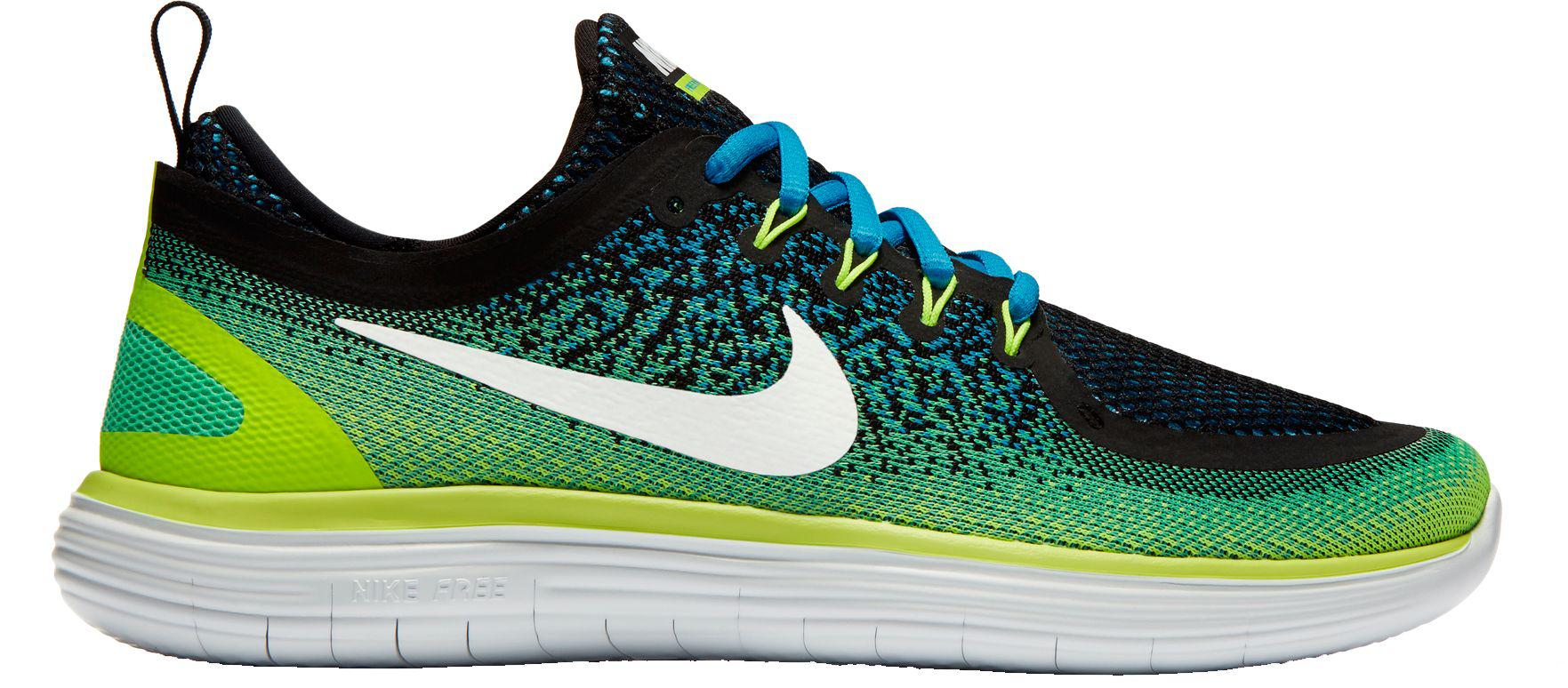 new style f09ae 6e485 Nike - Green Free Rn Distance 2 Running Shoes for Men - Lyst