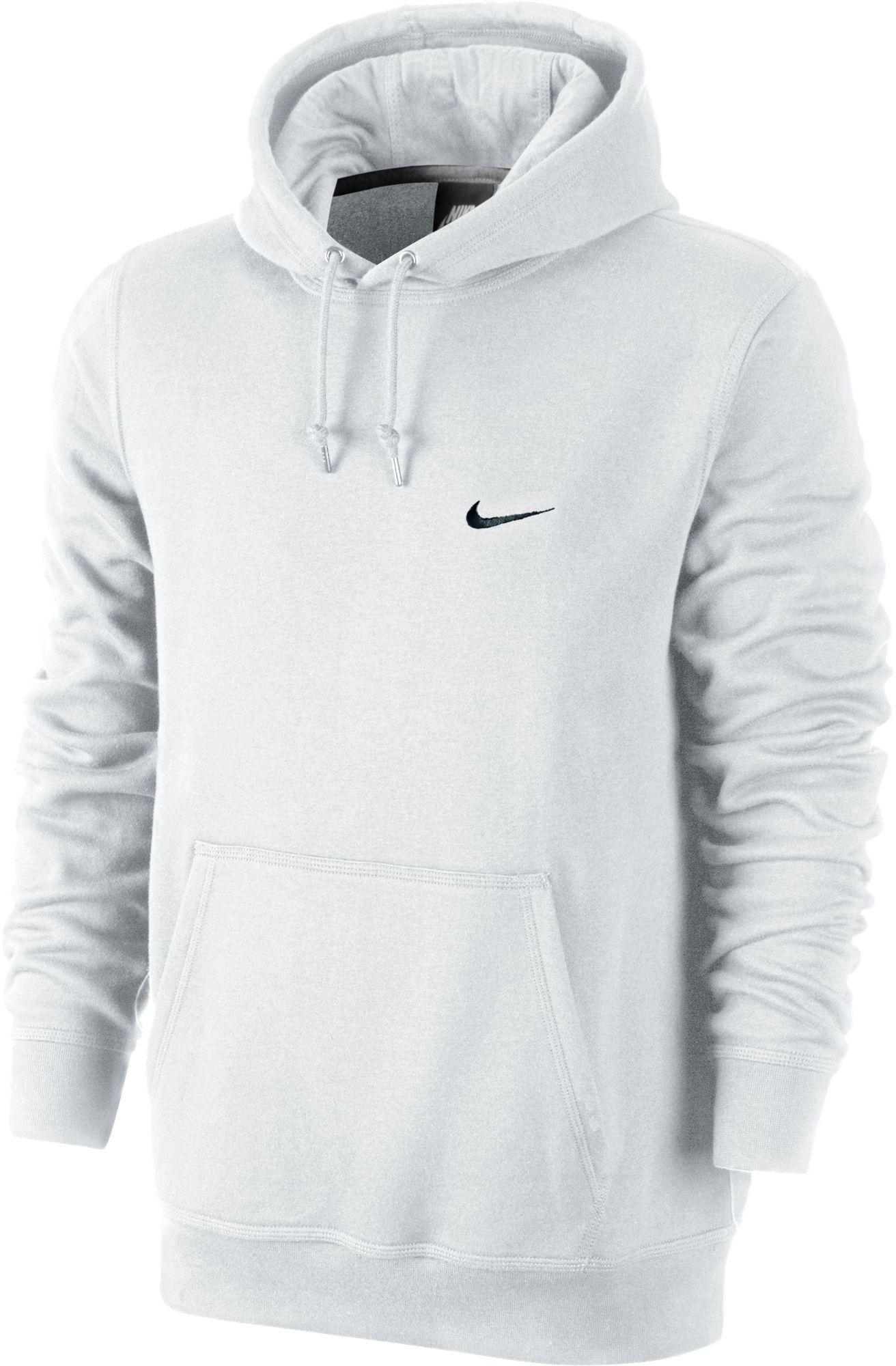 new concept 41939 511d3 Nike Classic Club Fleece Hoodie in White/Black (White) for ...