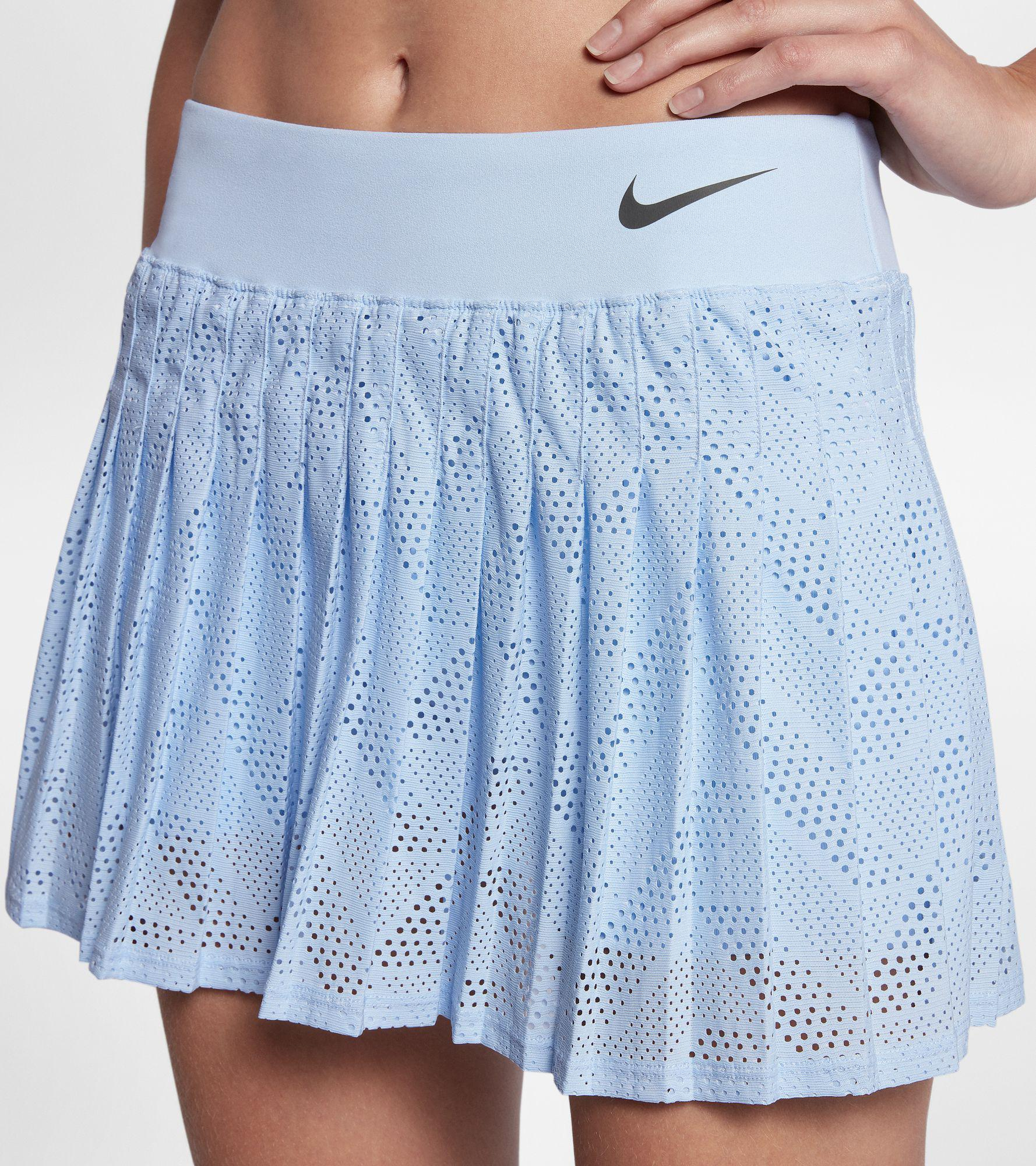 Nike. Women's Blue Maria Premier Tennis Skirt