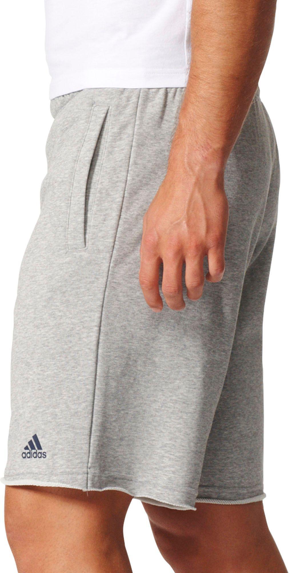 3f22d7f9cb Adidas Gray Essentials Raw-edged Sweat Shorts for men