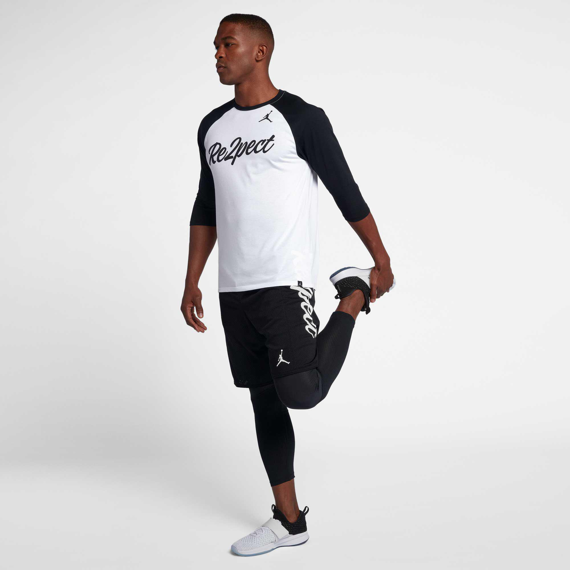 89f884e5745a66 Lyst - Nike Jordan Re2pect Raglan Tee in White for Men