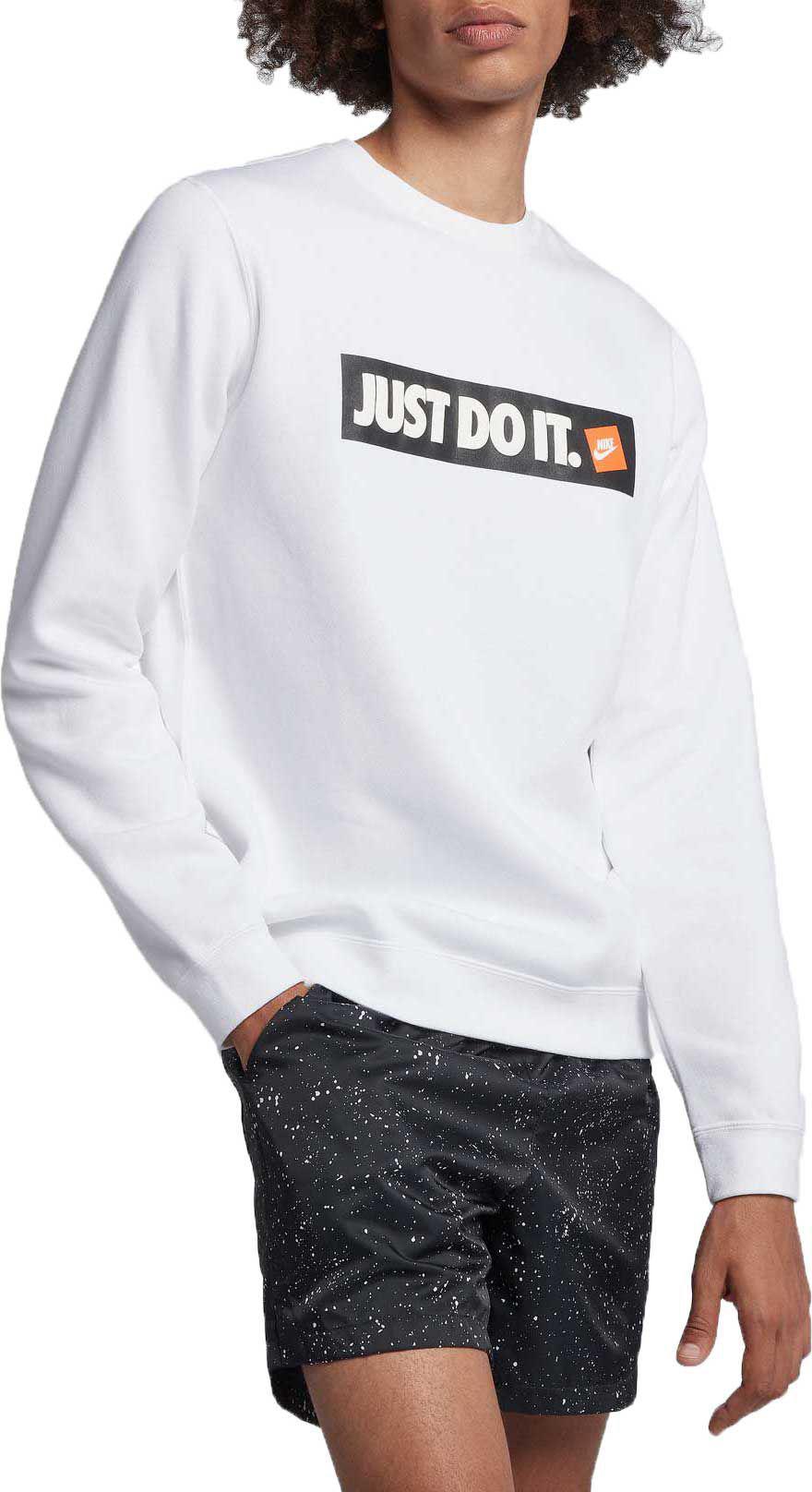 75fd92f9d Nike Sportswear Just Do It Fleece Pullover in White for Men - Lyst