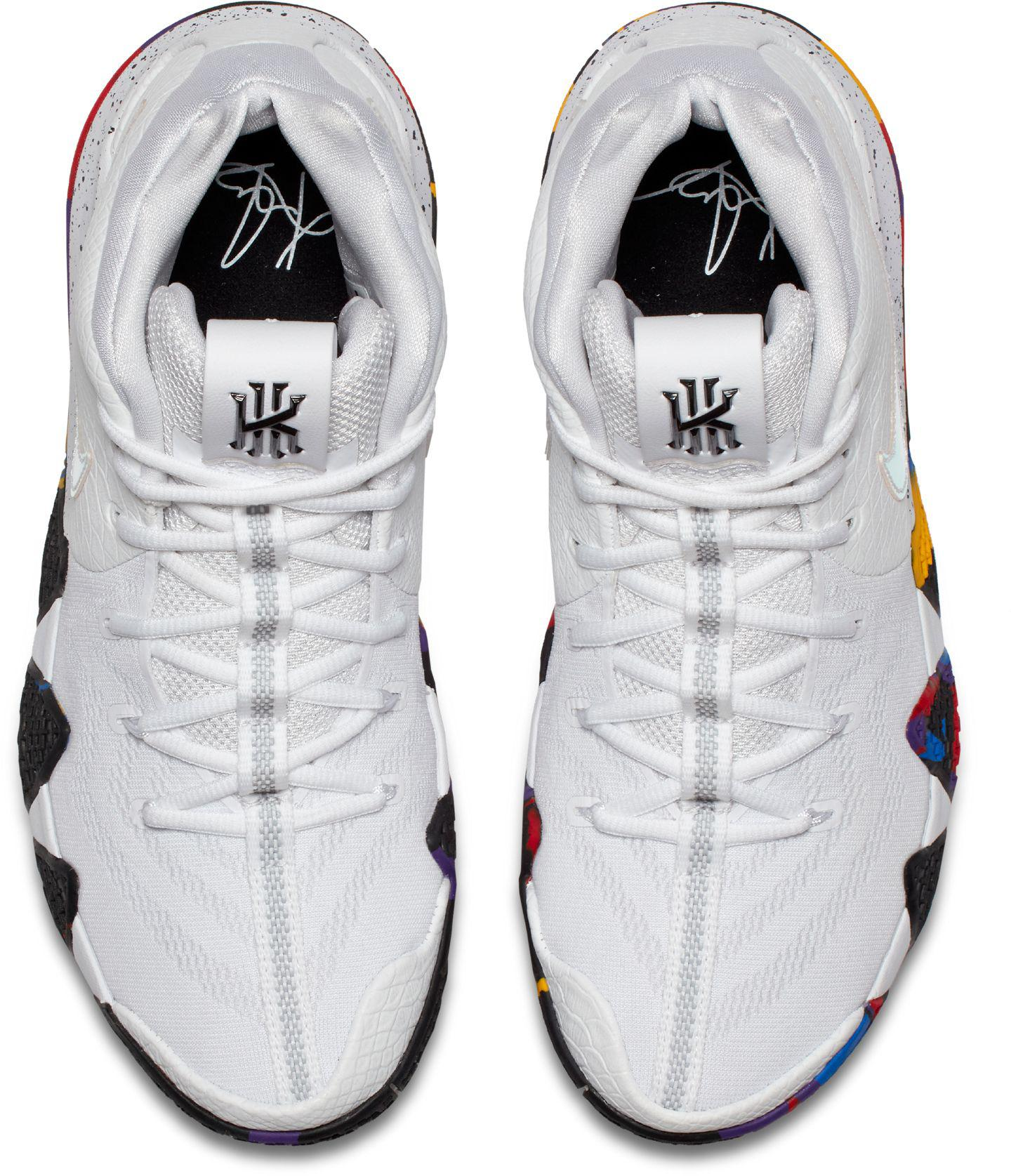 0ecf35b5ab20 Lyst - Nike Kyrie 4 Basketball Shoes in White for Men