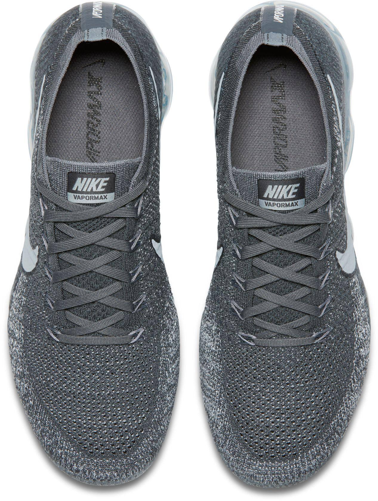 huge discount e6edf b5898 Nike Gray Air Vapormax Flyknit Running Shoes for men