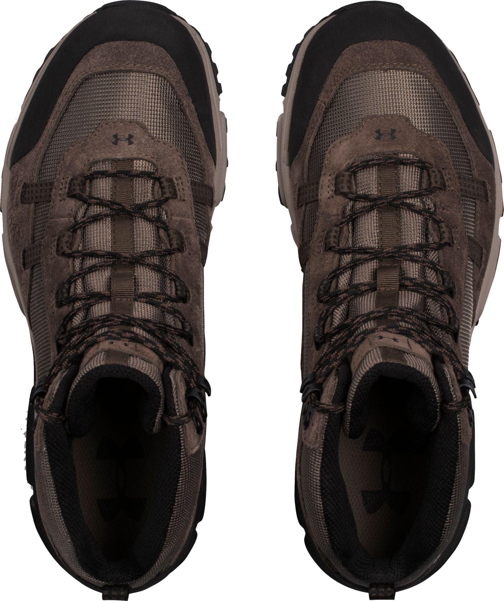 86f4ae09679 Under Armour Brown Defiance Mid Waterproof Hiking Boots for men