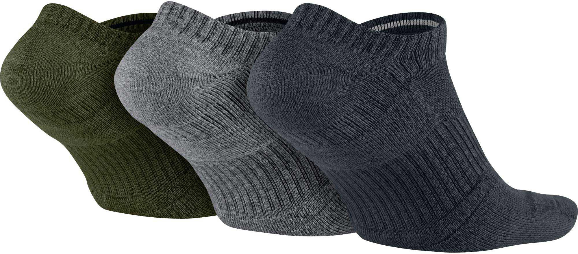 8eb0d22794d Lyst - Nike Dri-fit Half Cushion No Show Socks 3 Pack in Gray for Men