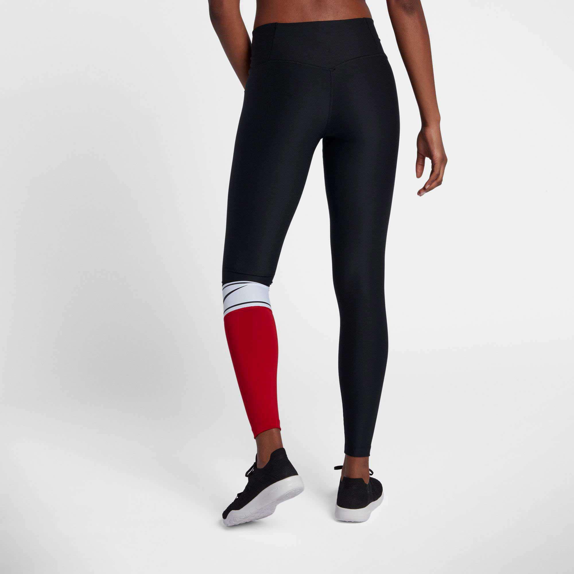 8f3f1b6f58be01 Nike Power Colorblock Training Tights in Black - Lyst