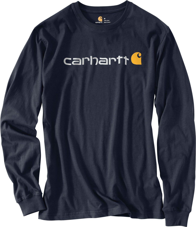 df9a83d38 Carhartt - Blue Signature Logo Long Sleeve Shirt for Men - Lyst. View  fullscreen