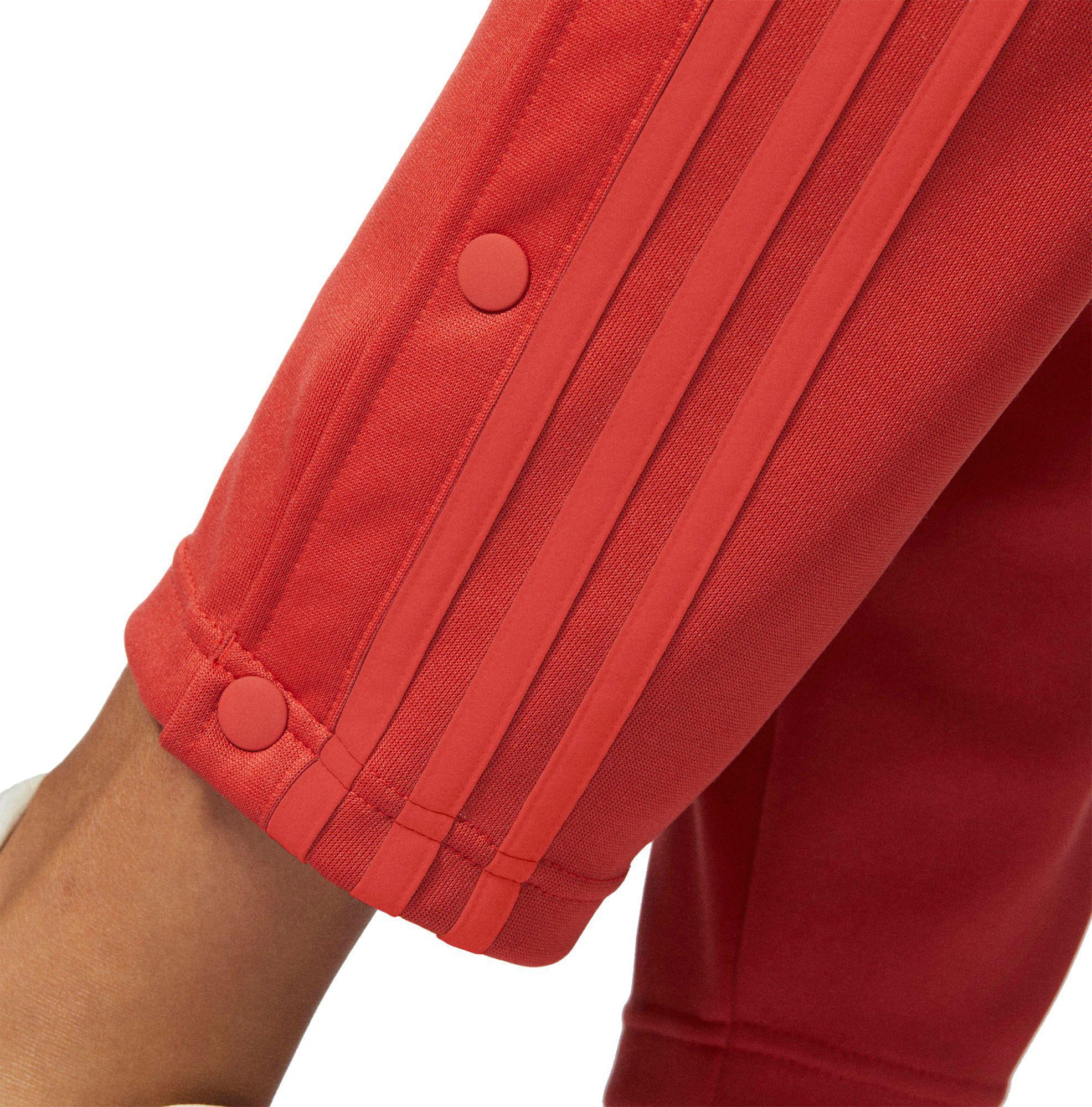 Lyst Adidas tricot Snap pantalones en rojo