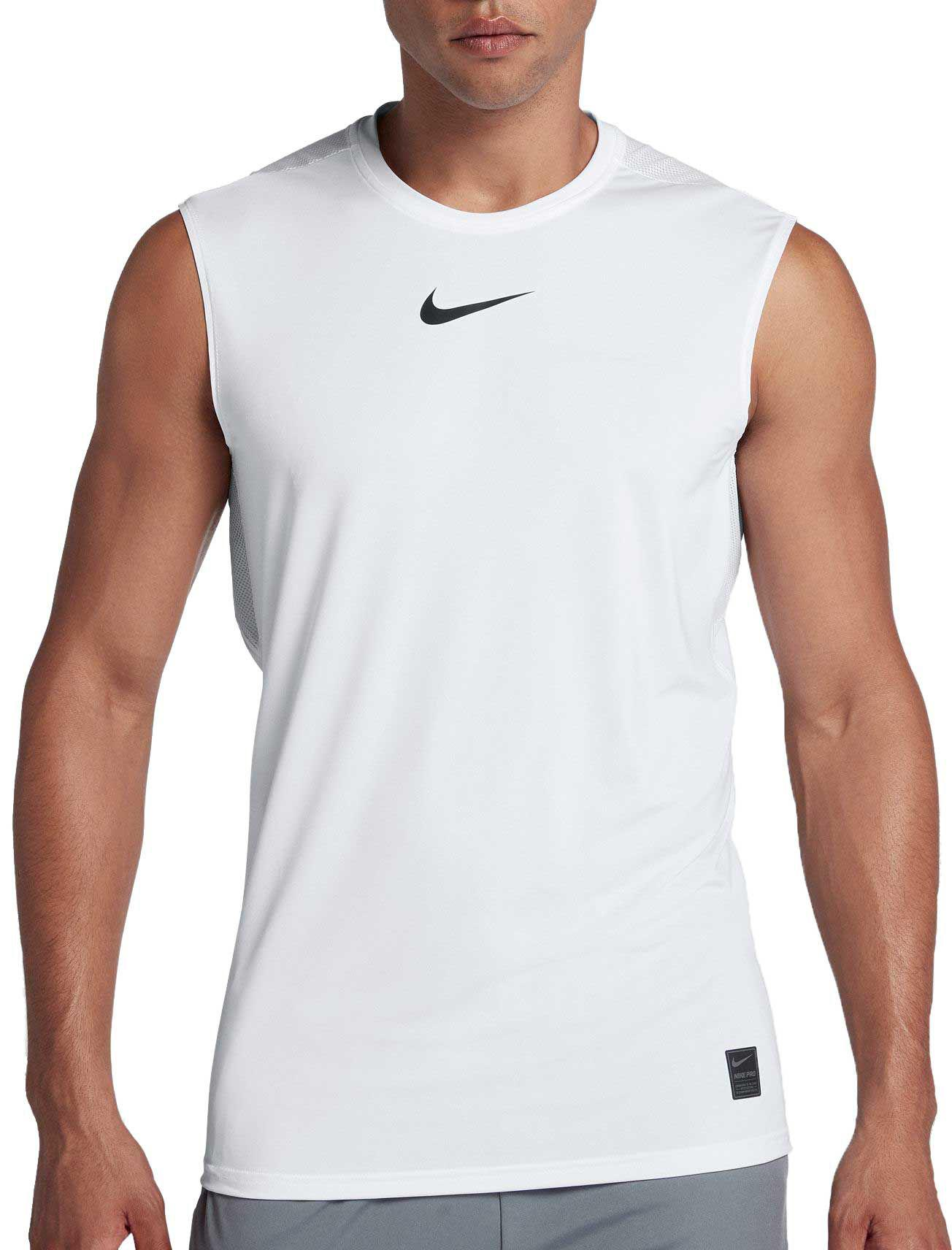 418e970c5679c Lyst - Nike Pro Fitted Sleeveless Shirt in White for Men