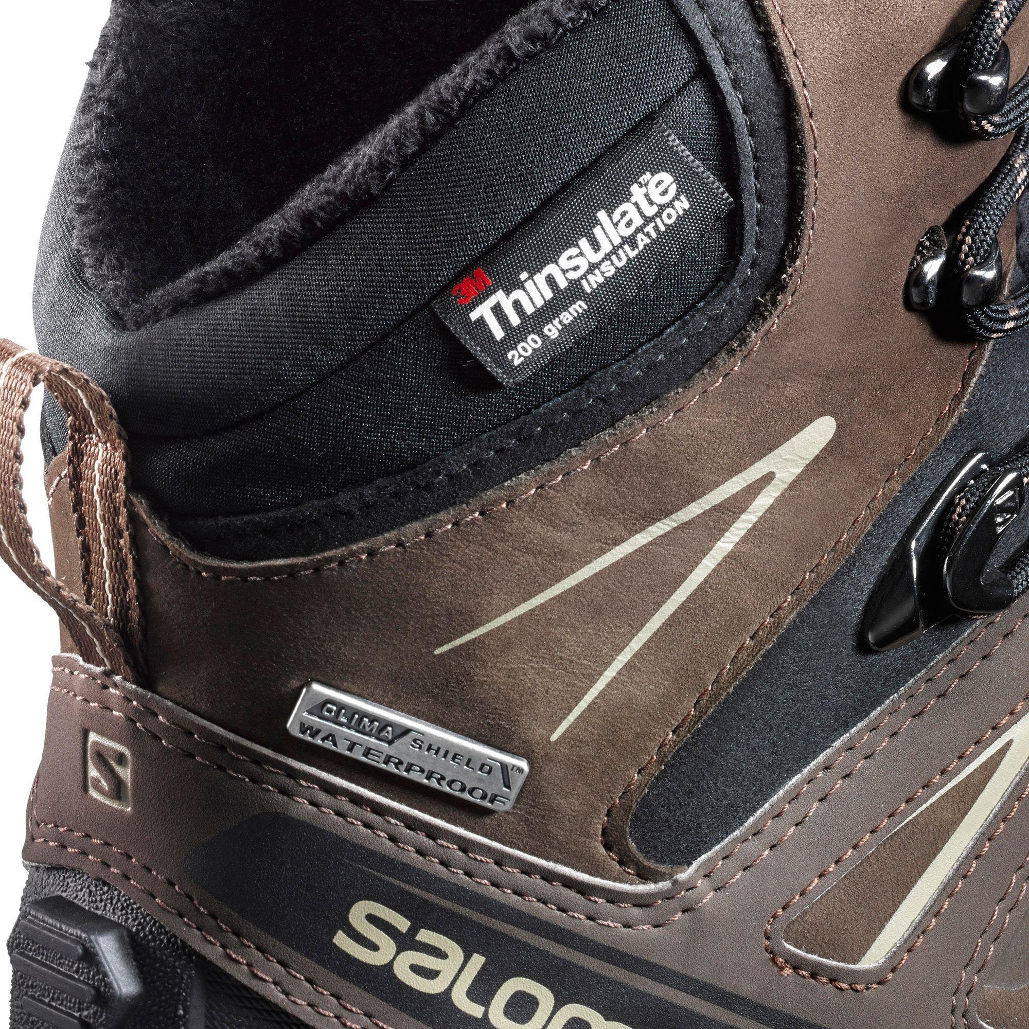 the latest 00166 99d58 Yves Salomon Brown X Ultra Winter Cs Waterproof Winter Boots for men