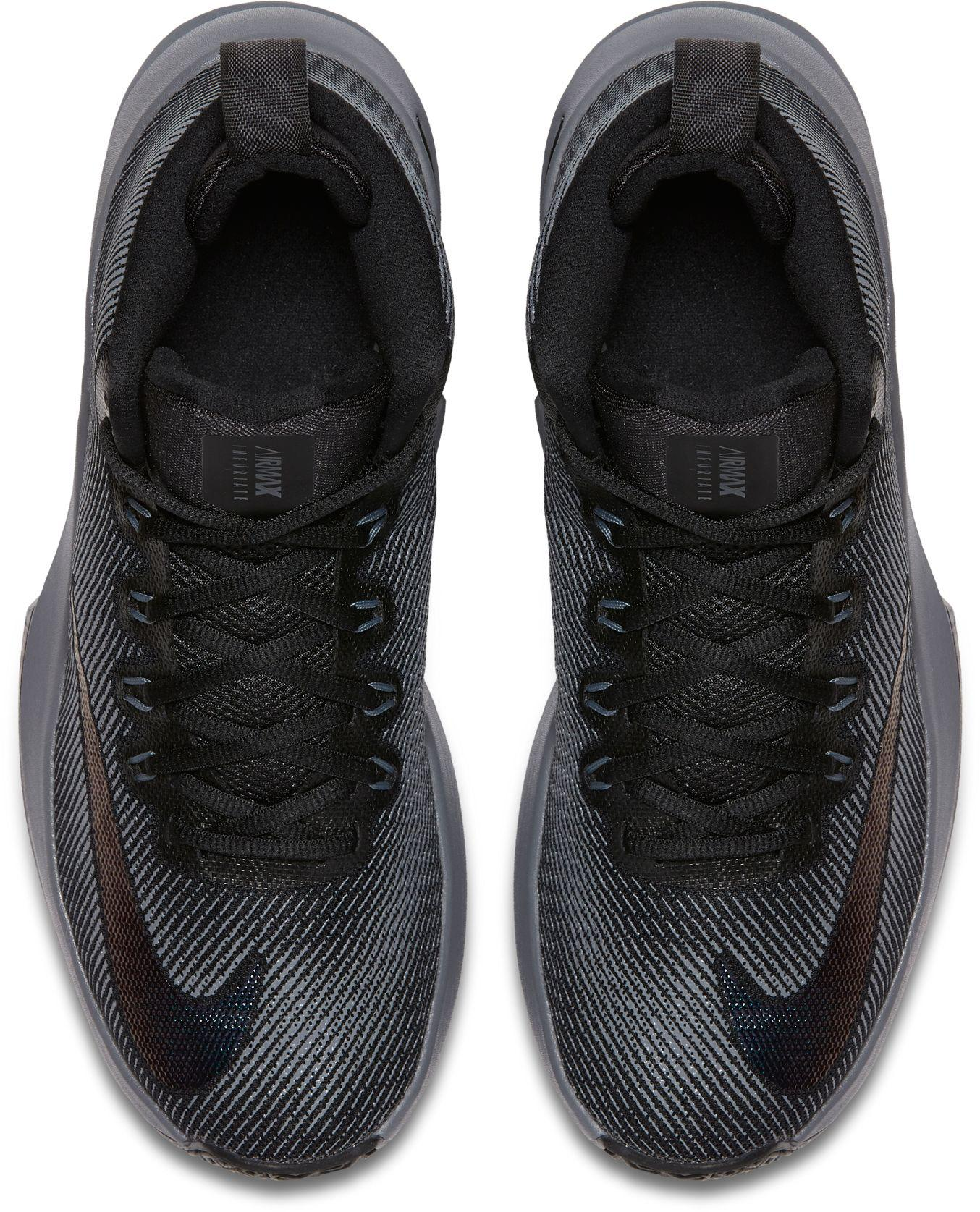 finest selection 87775 9ca75 Nike - Black Air Max Infuriate Mid Premium Basketball Shoes for Men - Lyst