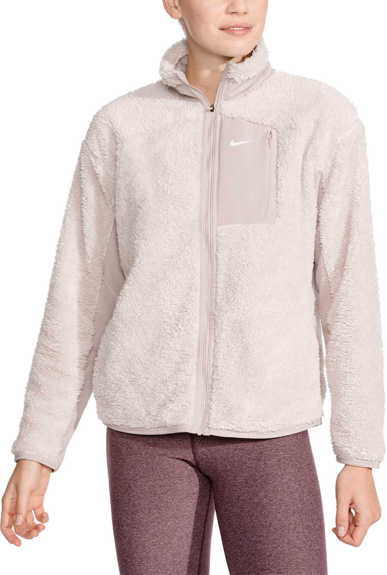 c14ea82711c5 Lyst - Nike Therma Sherpa Full Zip Jacket in Natural