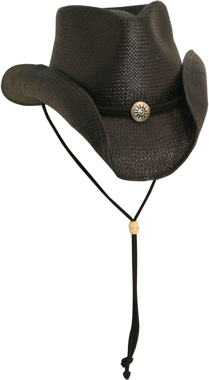 61798bcbc00 Lyst - Dorfman Pacific Scala Western Straw Hat in Black for Men