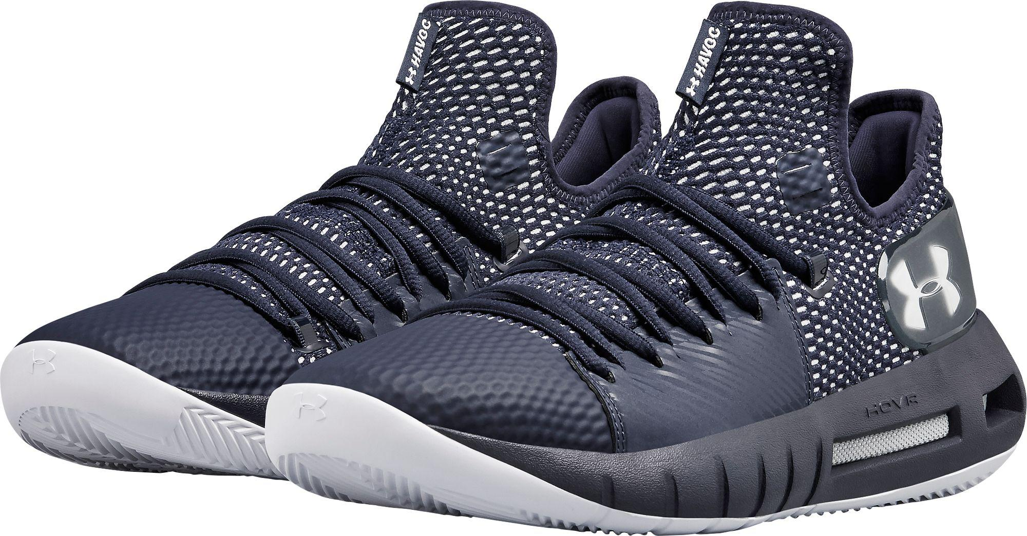 reputable site 603df aa541 Men's Blue Hovr Havoc Low Basketball Shoes