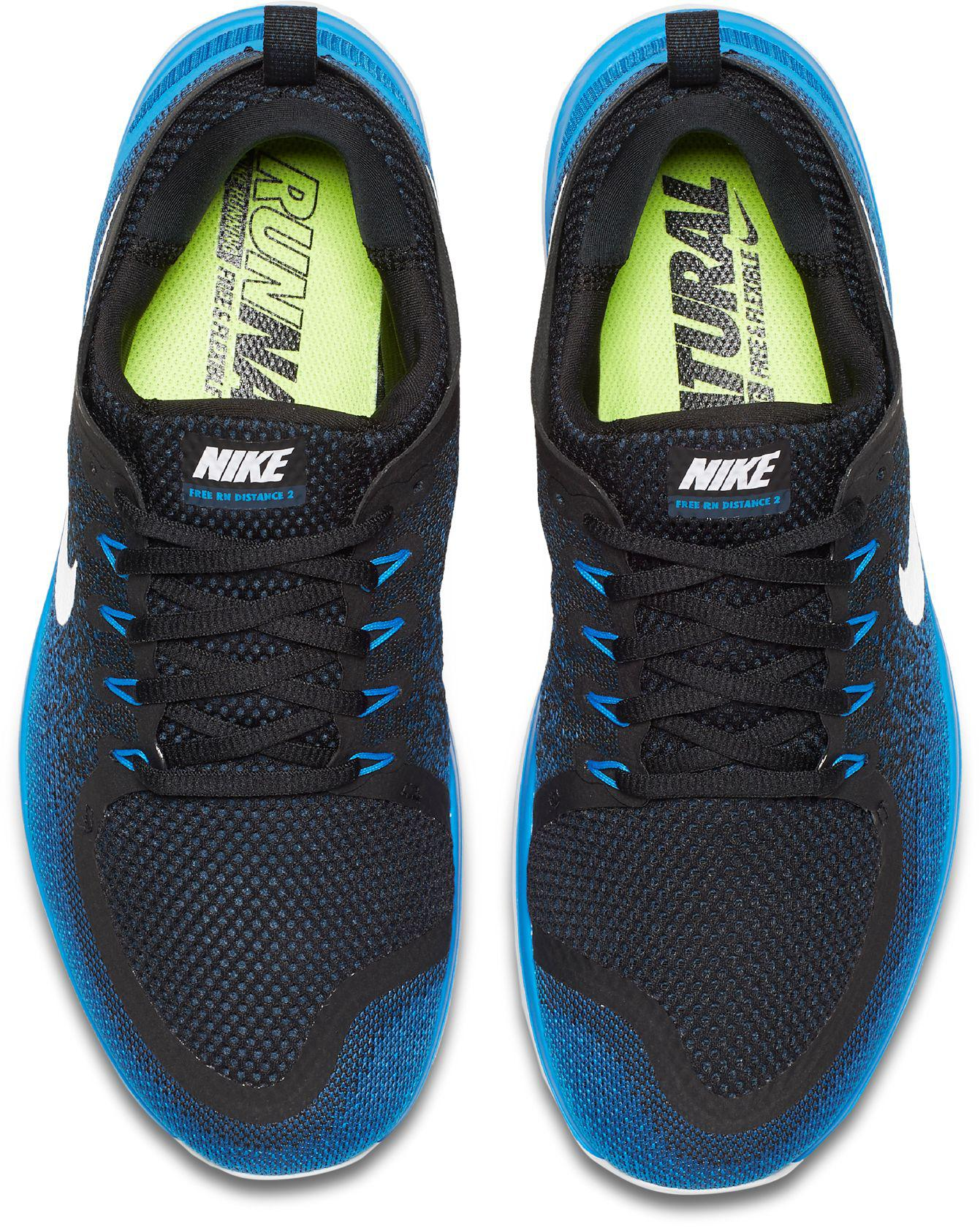 247c757ac1158 Lyst - Nike Free Rn Distance 2 Running Shoes in Blue for Men