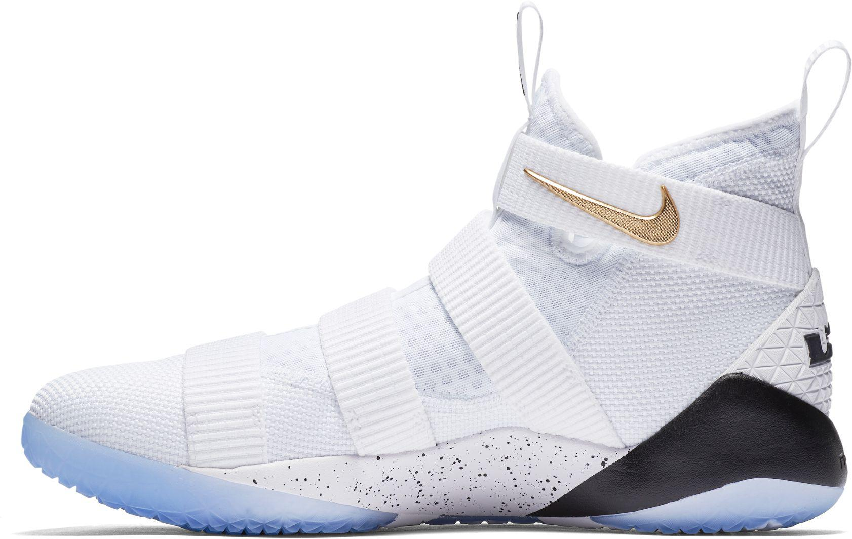 sports shoes 443a9 2774e Men's White Zoom Lebron Soldier Xi Basketball Shoes