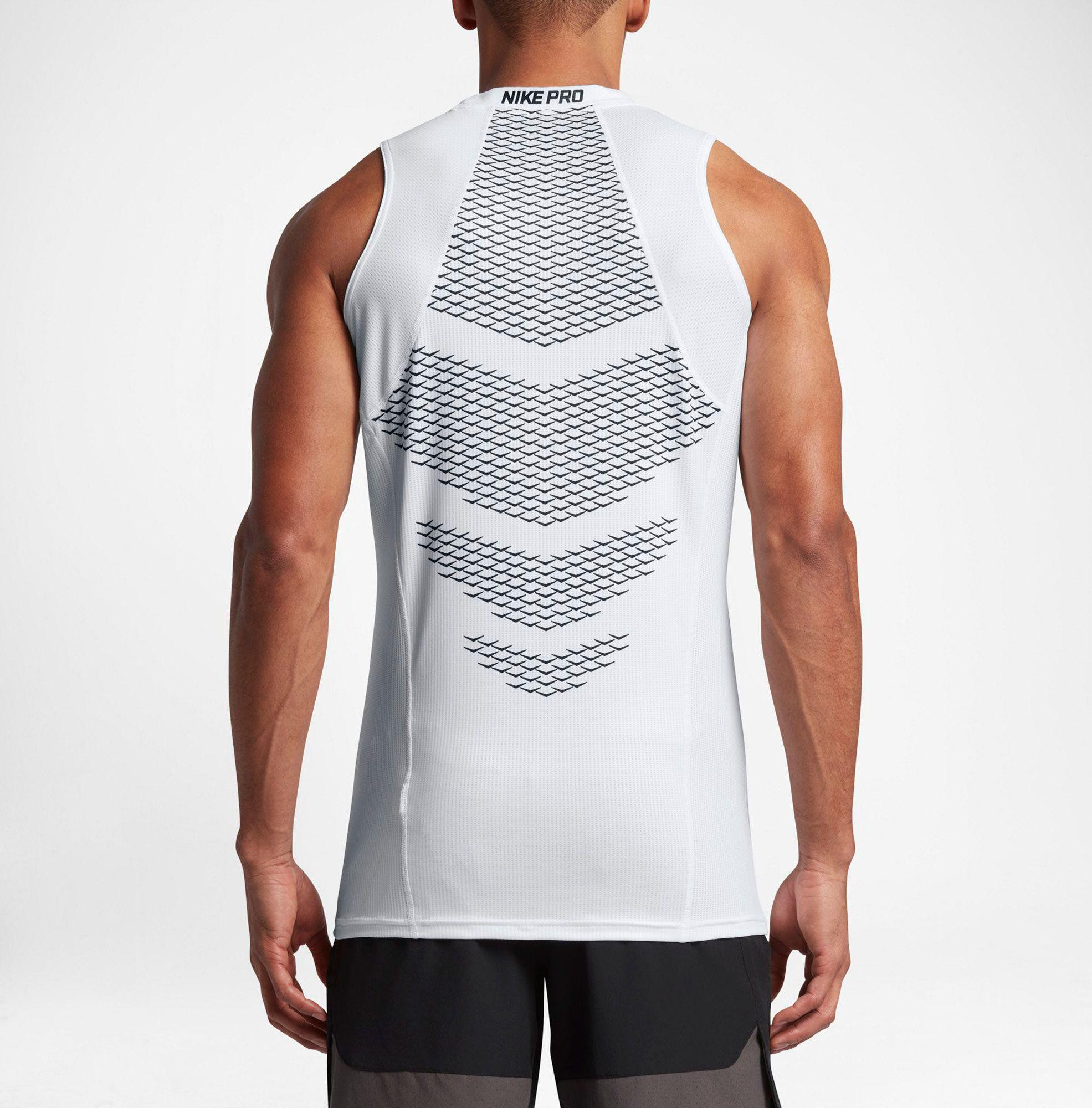 08ae3a1173cac Lyst - Nike Pro Hypercool Sleeveless Shirt in White for Men
