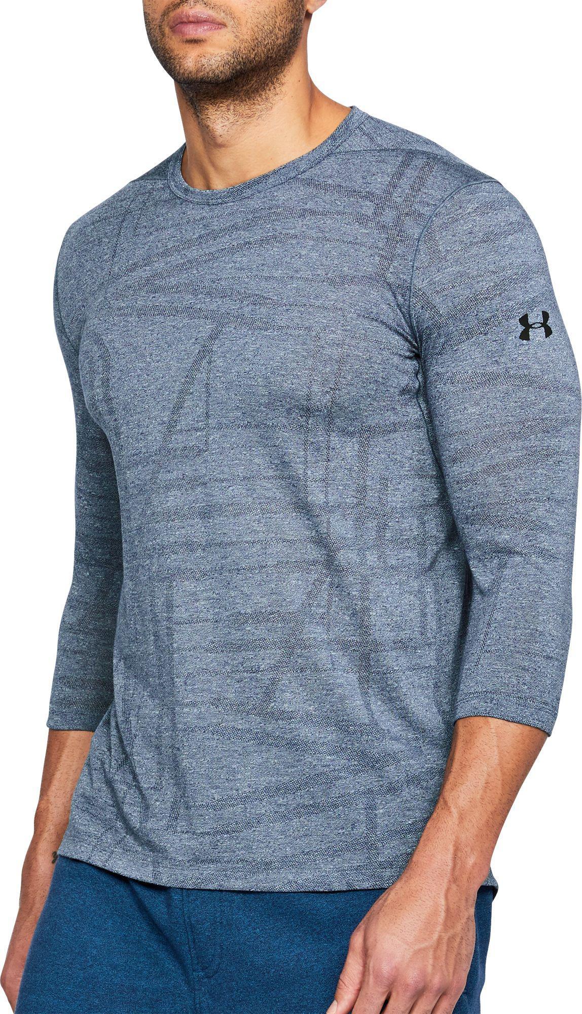 d2ba7649 Under Armour Blue Threadborne Siro Utility 3⁄4 Length Sleeve Shirt for men