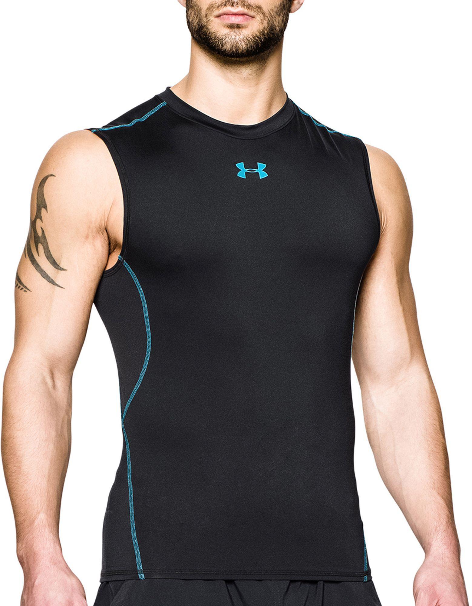 a671b59b Under Armour Heatgear Armour Sleeveless Shirt in Black for Men - Lyst