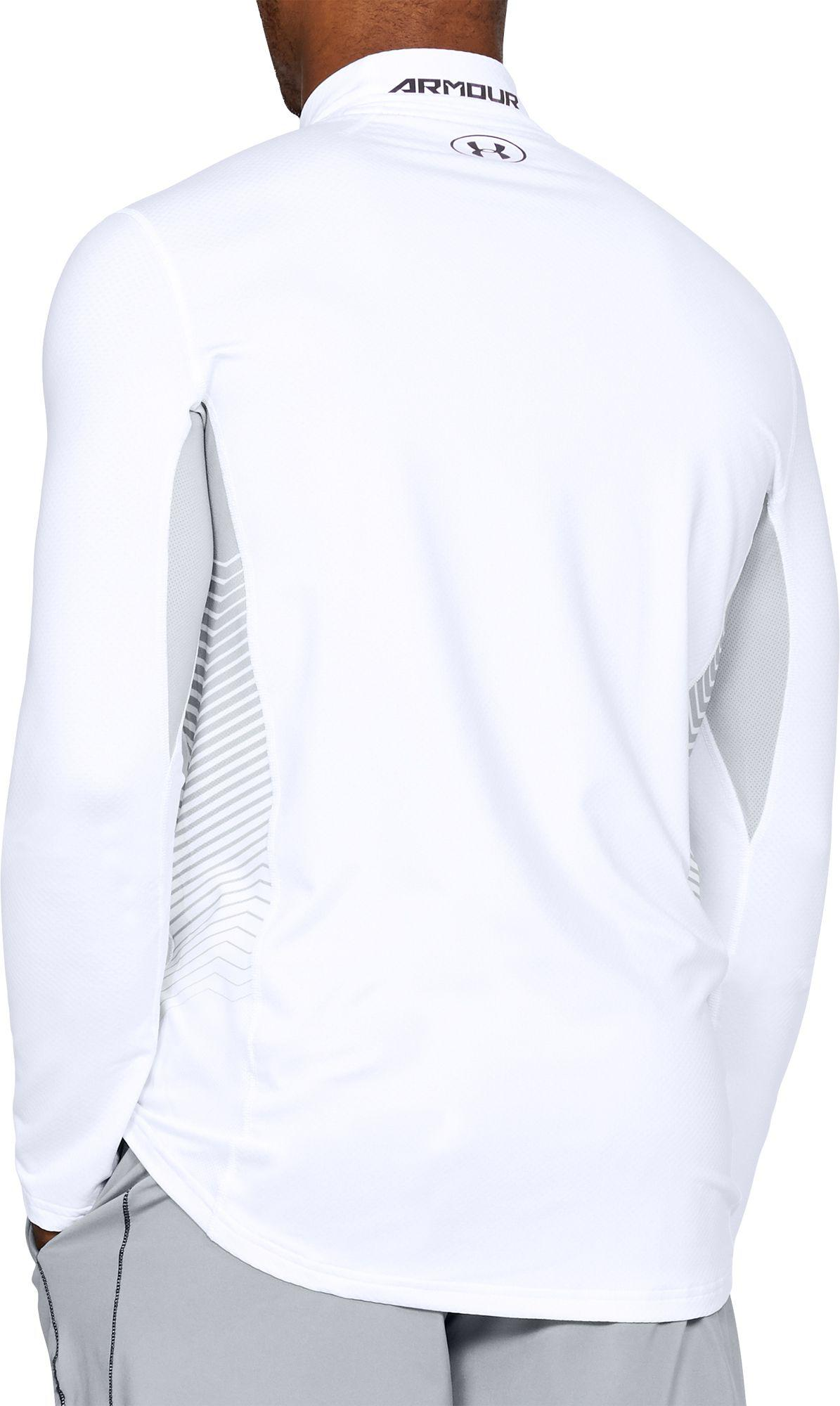 95566c604 Under Armour - White Coldgear Reactor Fitted Long Sleeve T-shirt for Men -  Lyst