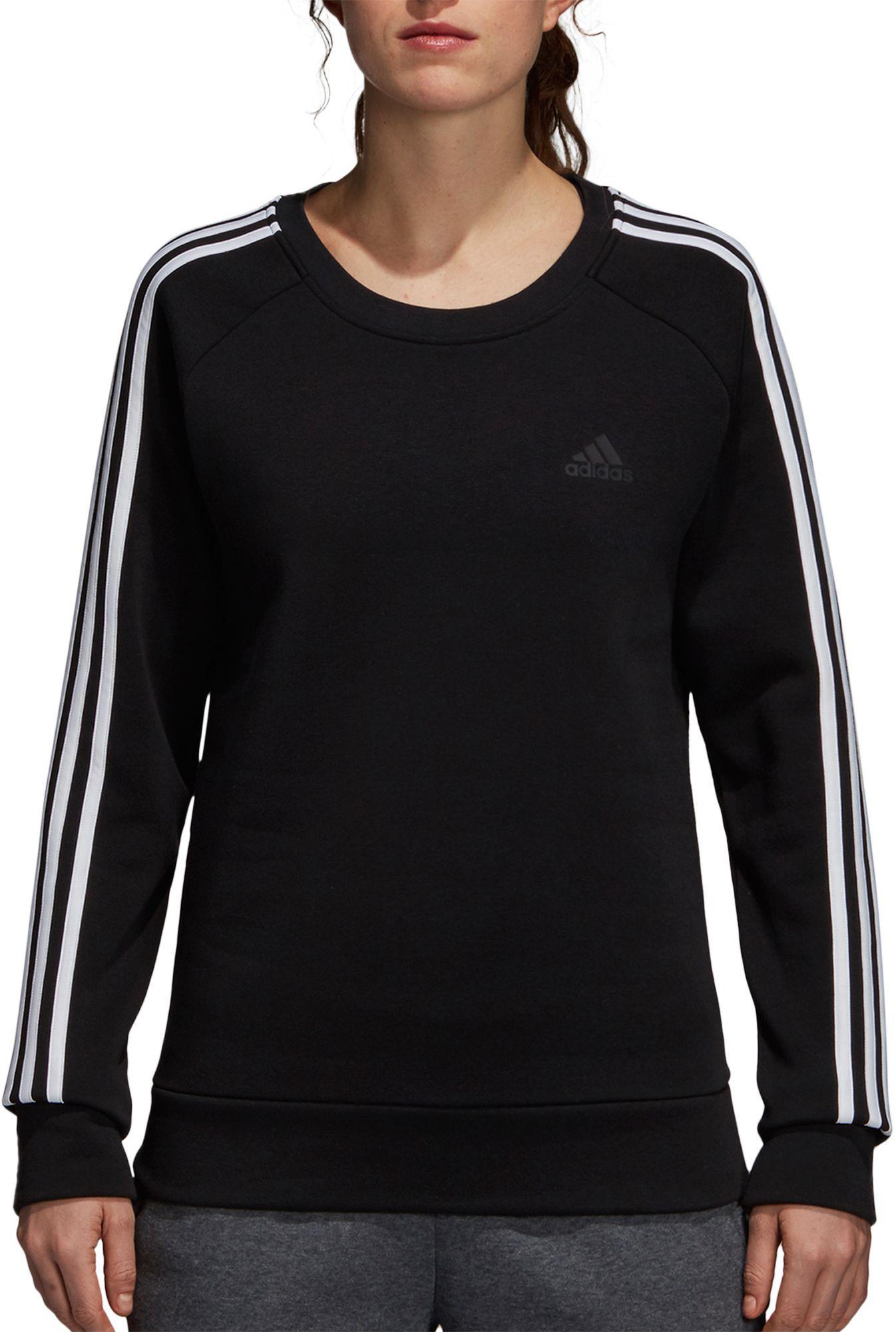 ef5e8f3d8b9 Lyst - adidas Essentials 3-stripes Crewneck Sweatshirt in Black