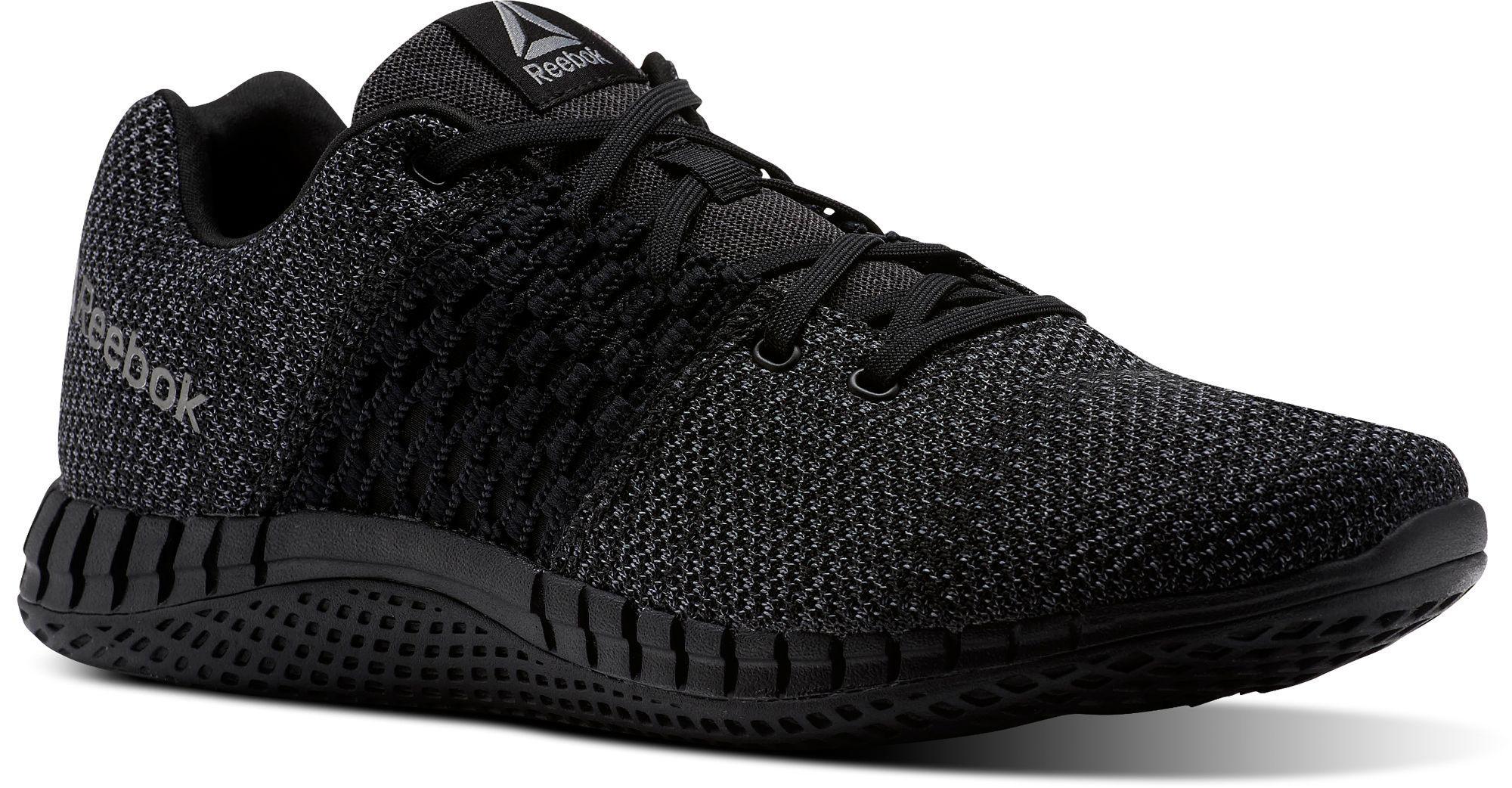 Reebok Print Run Ultraknit Running Shoes in Black for Men