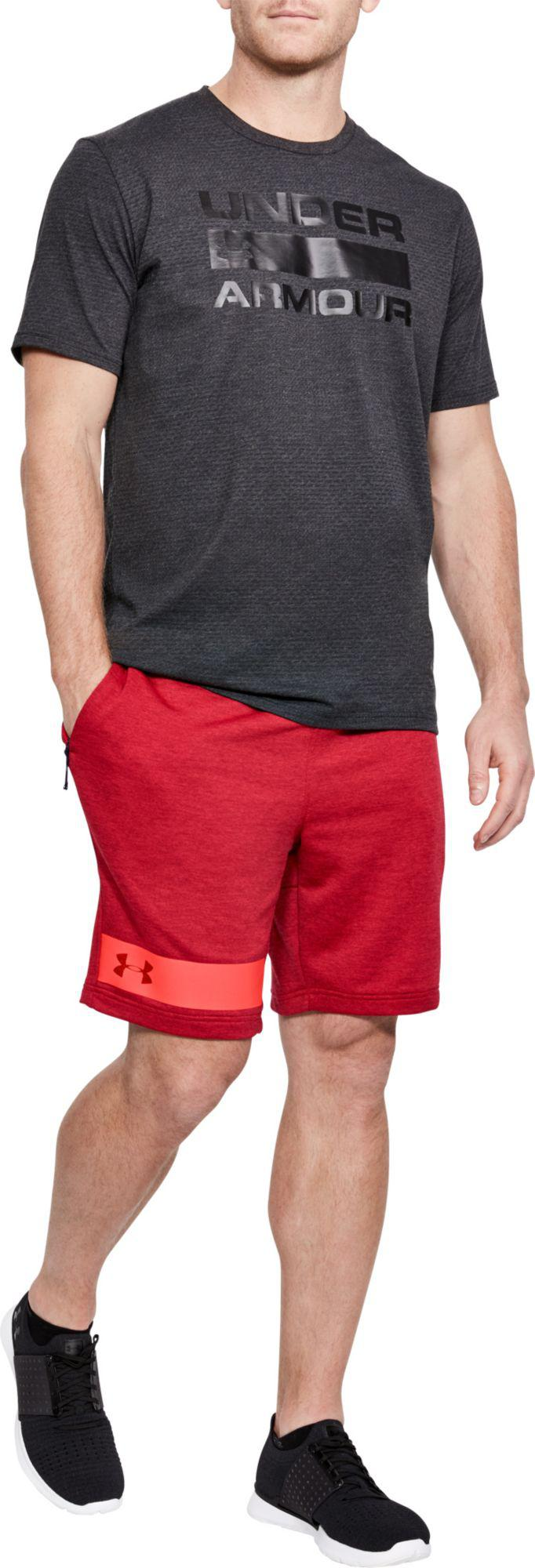17b46233 Under Armour Mk-1 Terry Fleece Sweat Shorts in Red for Men - Lyst