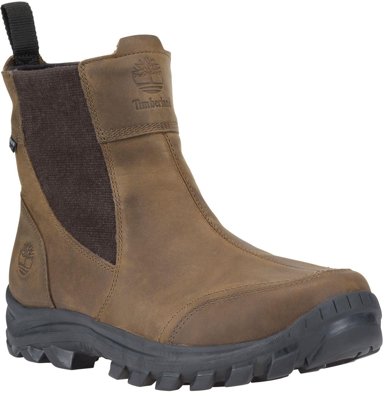 Timberland Brown Earthkeepers Chillberg Pull on Waterproof 200g Winter Boots for men