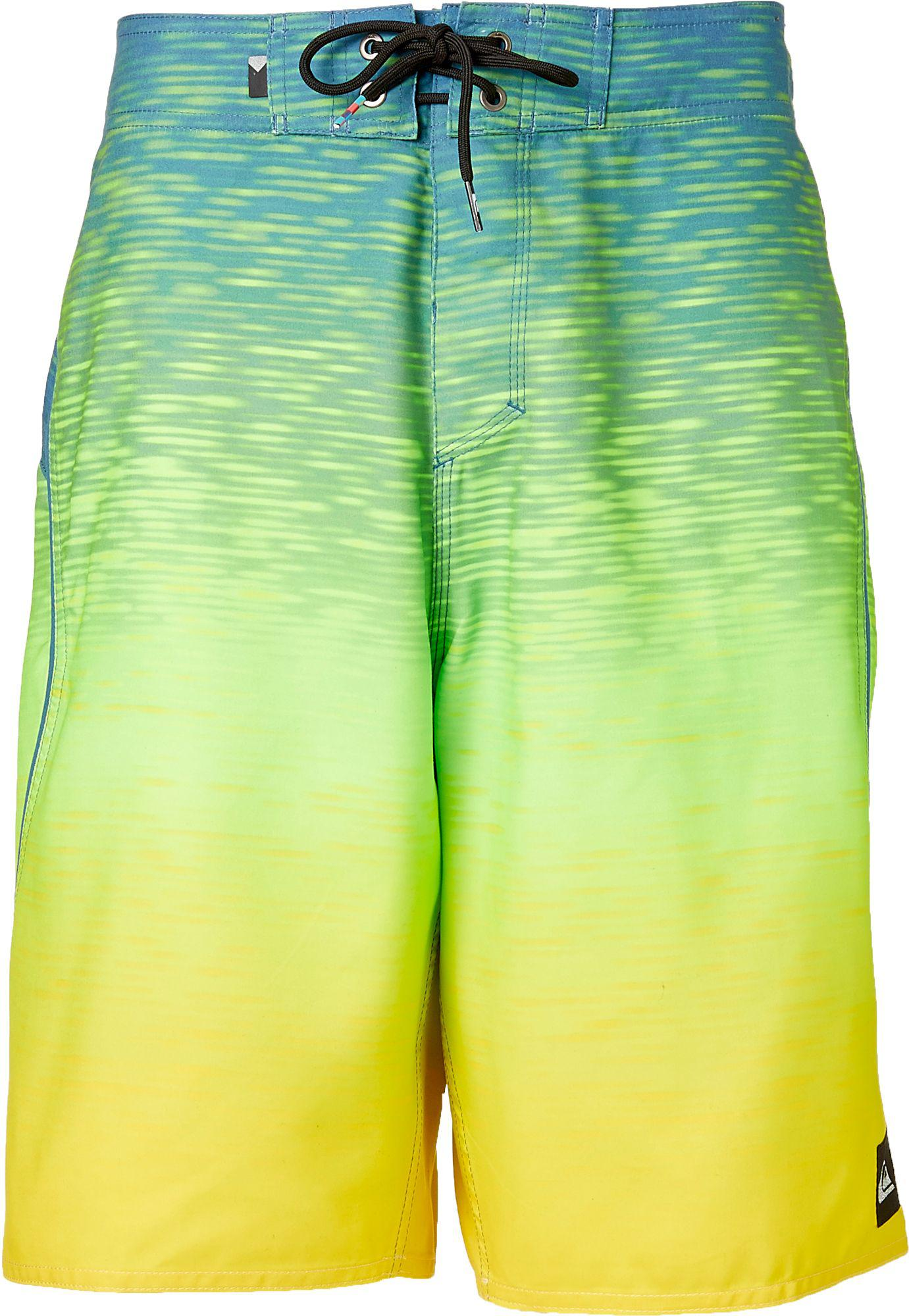 6783f9467f Quiksilver Quicksilver Boy's Momentum Fader Board Shorts in Green ...