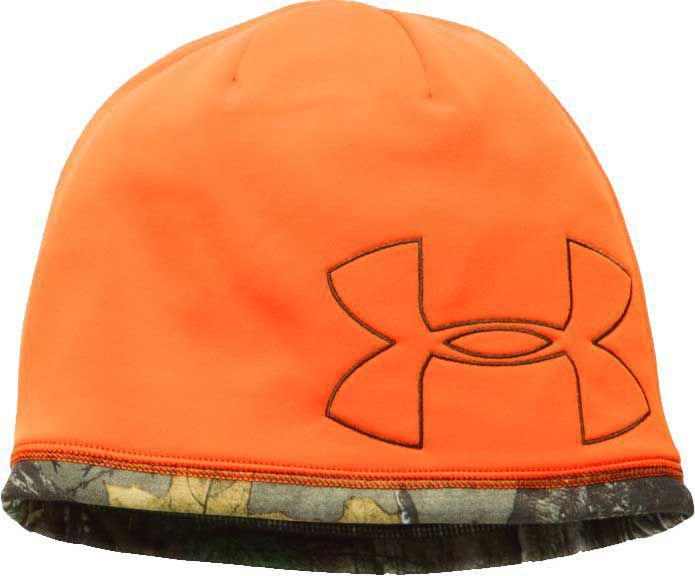Lyst - Under Armour Reversible Fleece 2.0 Hunting Beanie in Orange ... 56cdbf162b5