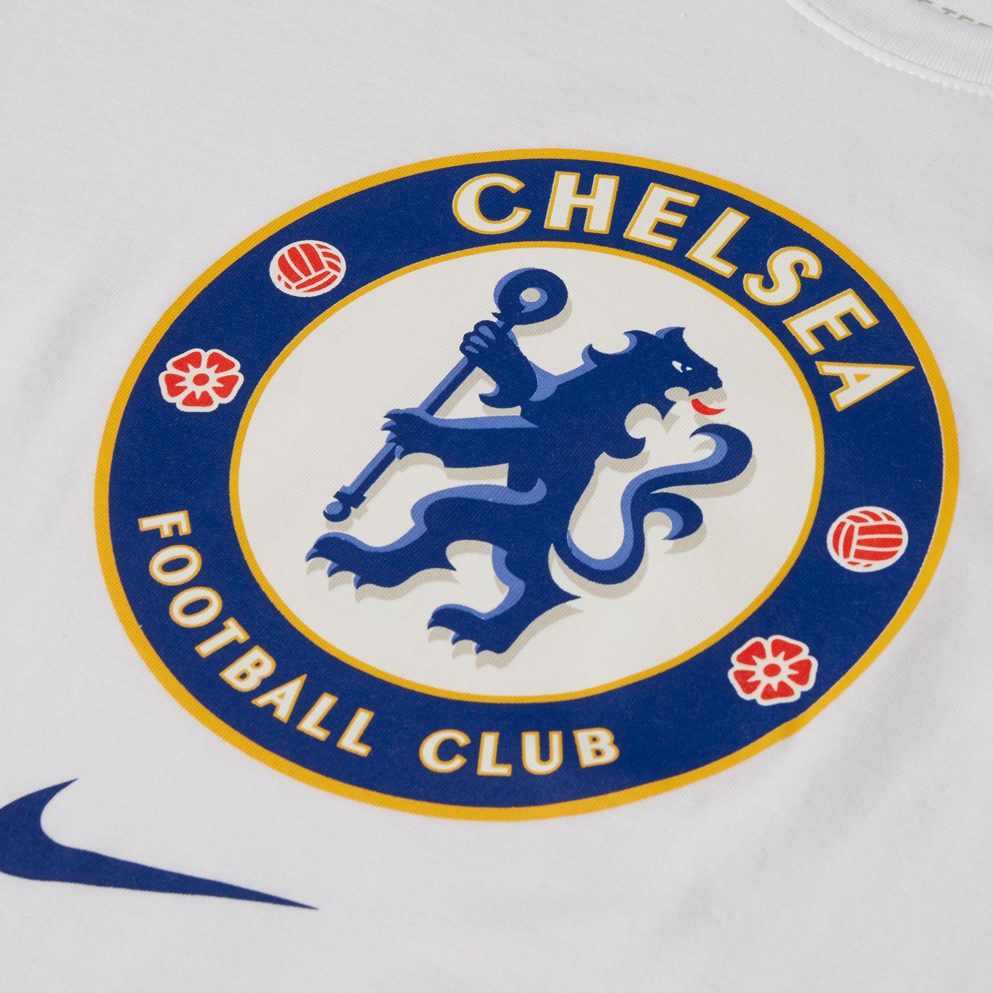 Nike Chelsea Fc '19 Crest White T-shirt for Men - Lyst
