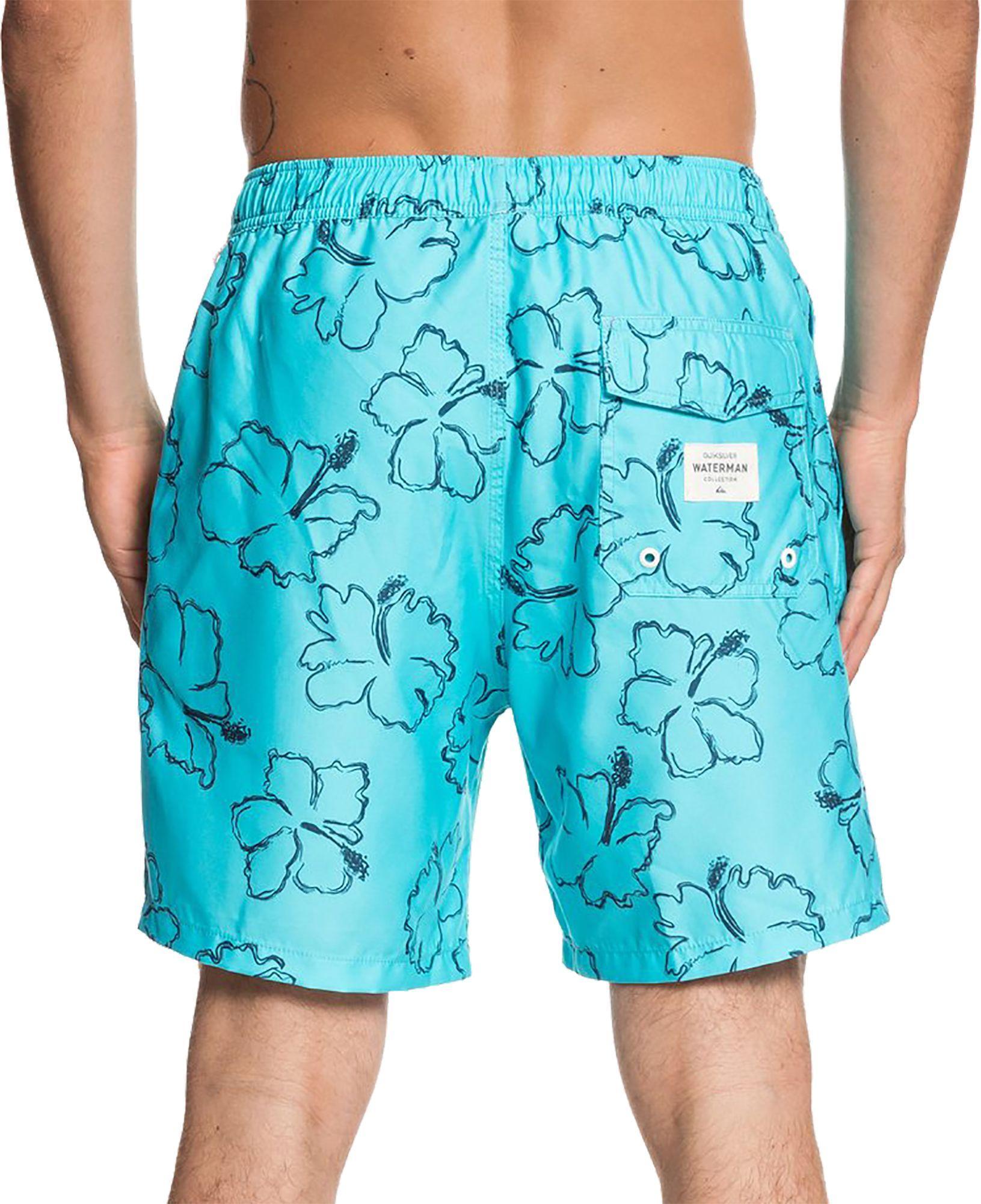 0ec7782d16 Lyst - Quiksilver Waterman Seasick Hilo Volley Board Shorts in Blue for Men
