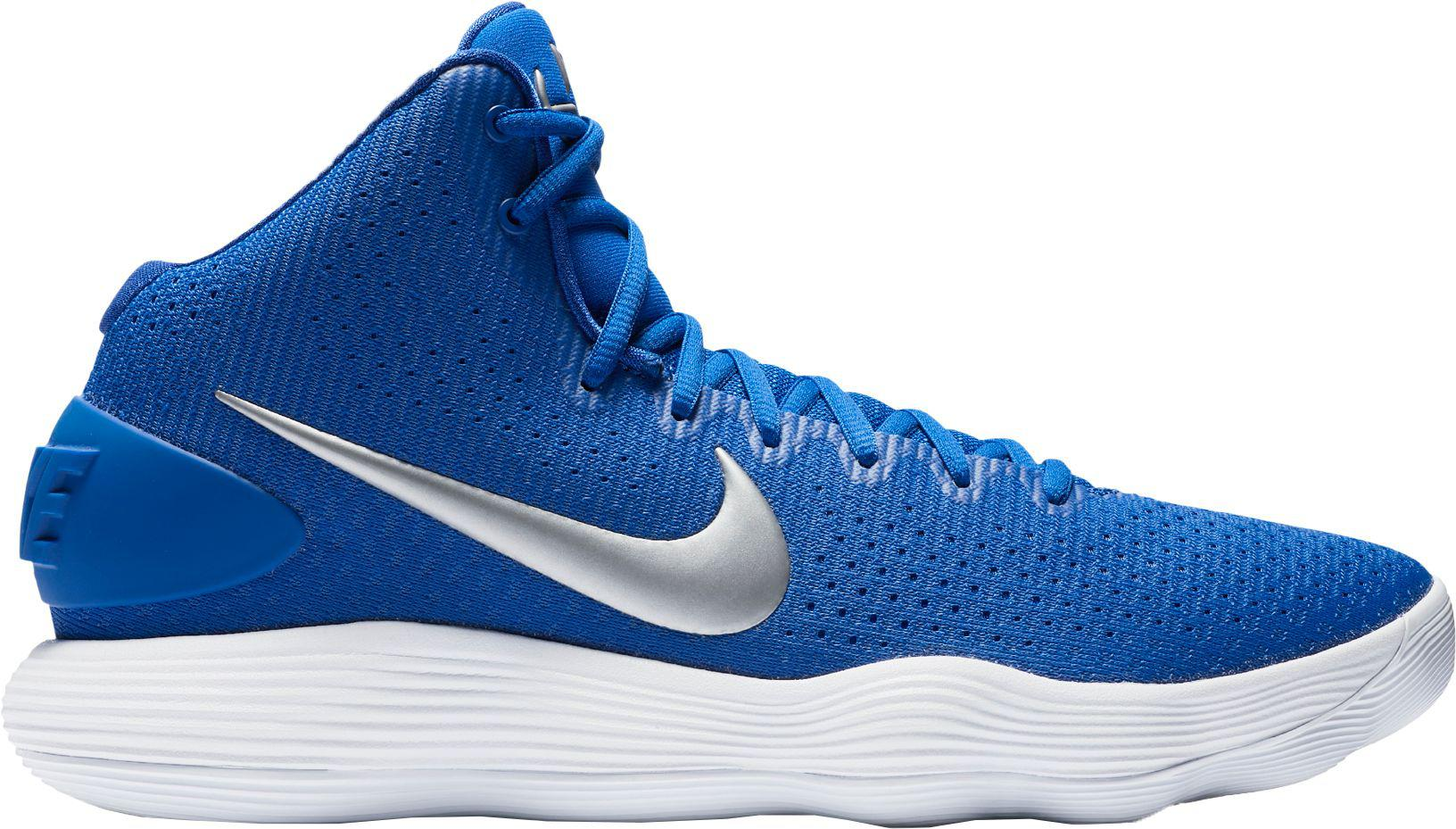 Nike. Men's Blue React Hyperdunk 2017 Basketball Shoes