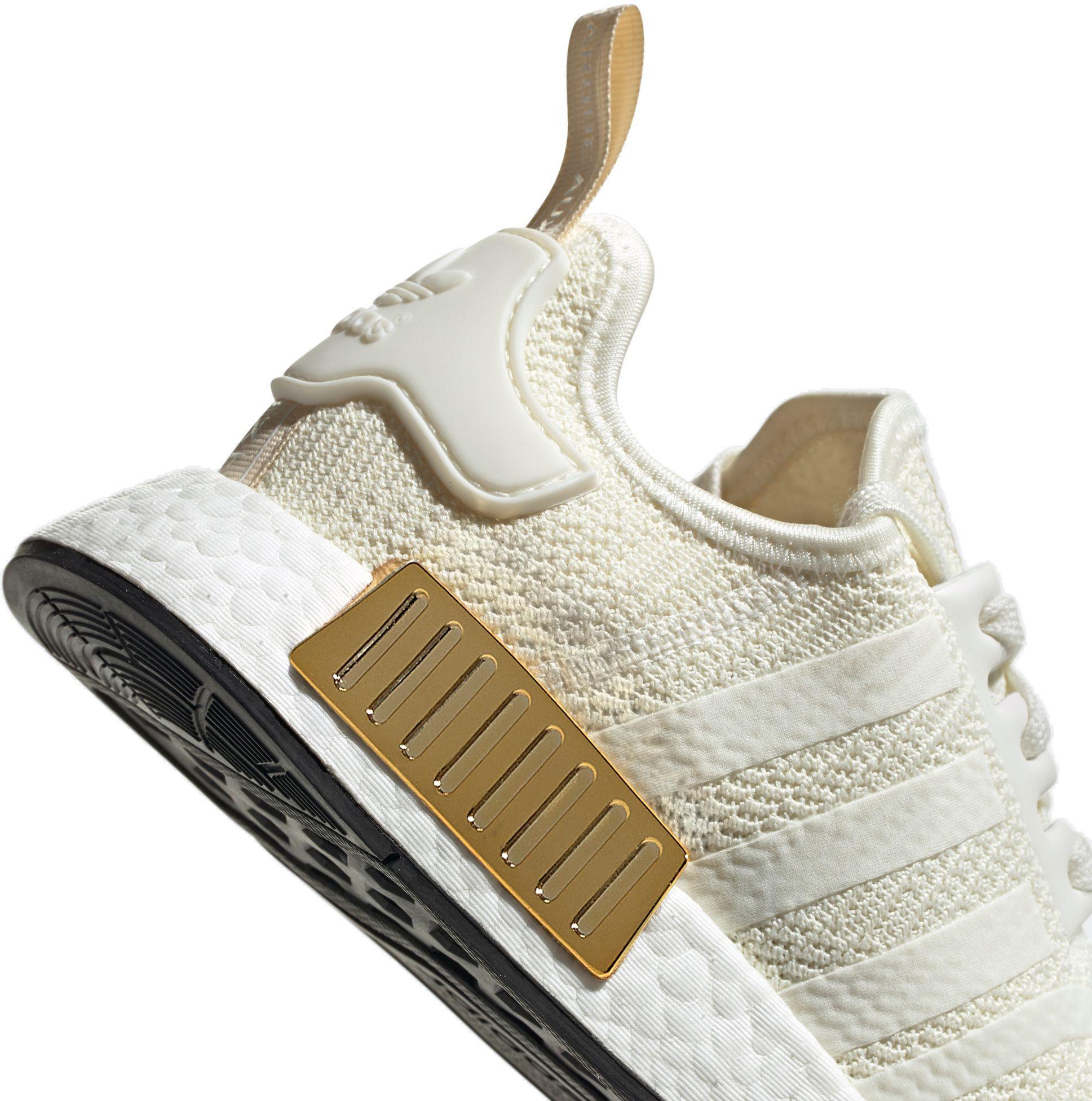 Adidas Originals Nmd R1 Shoes In Cream Gold Metallic Lyst