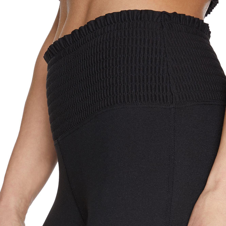 52320486bc7b8 Betsey Johnson - Black Smocked Waist 7/8 Legging - Lyst. View fullscreen