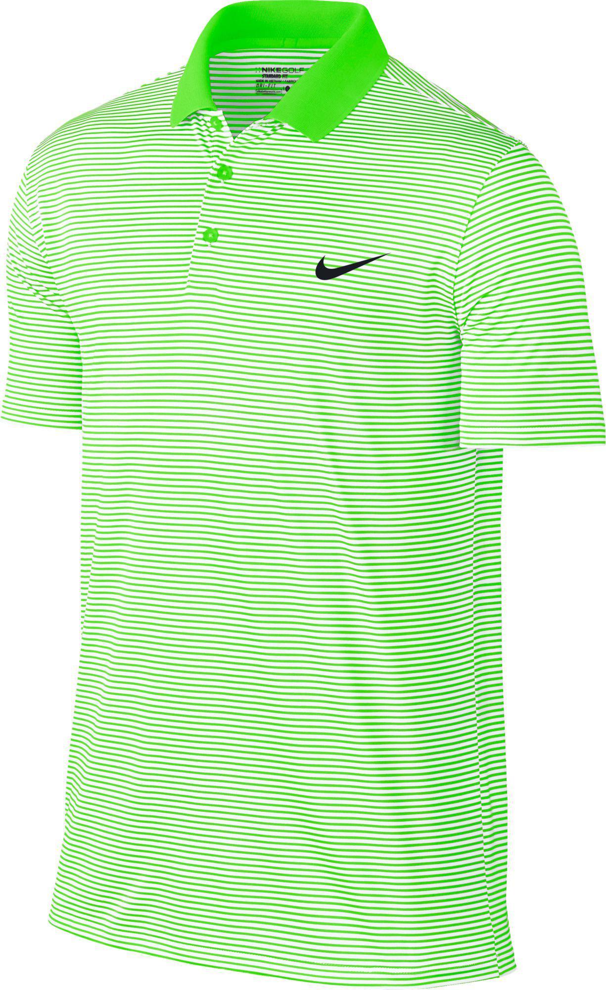 d0850bbb54 Nike Dri-fit Victory Mini Stripe Golf Polo in Green for Men - Lyst