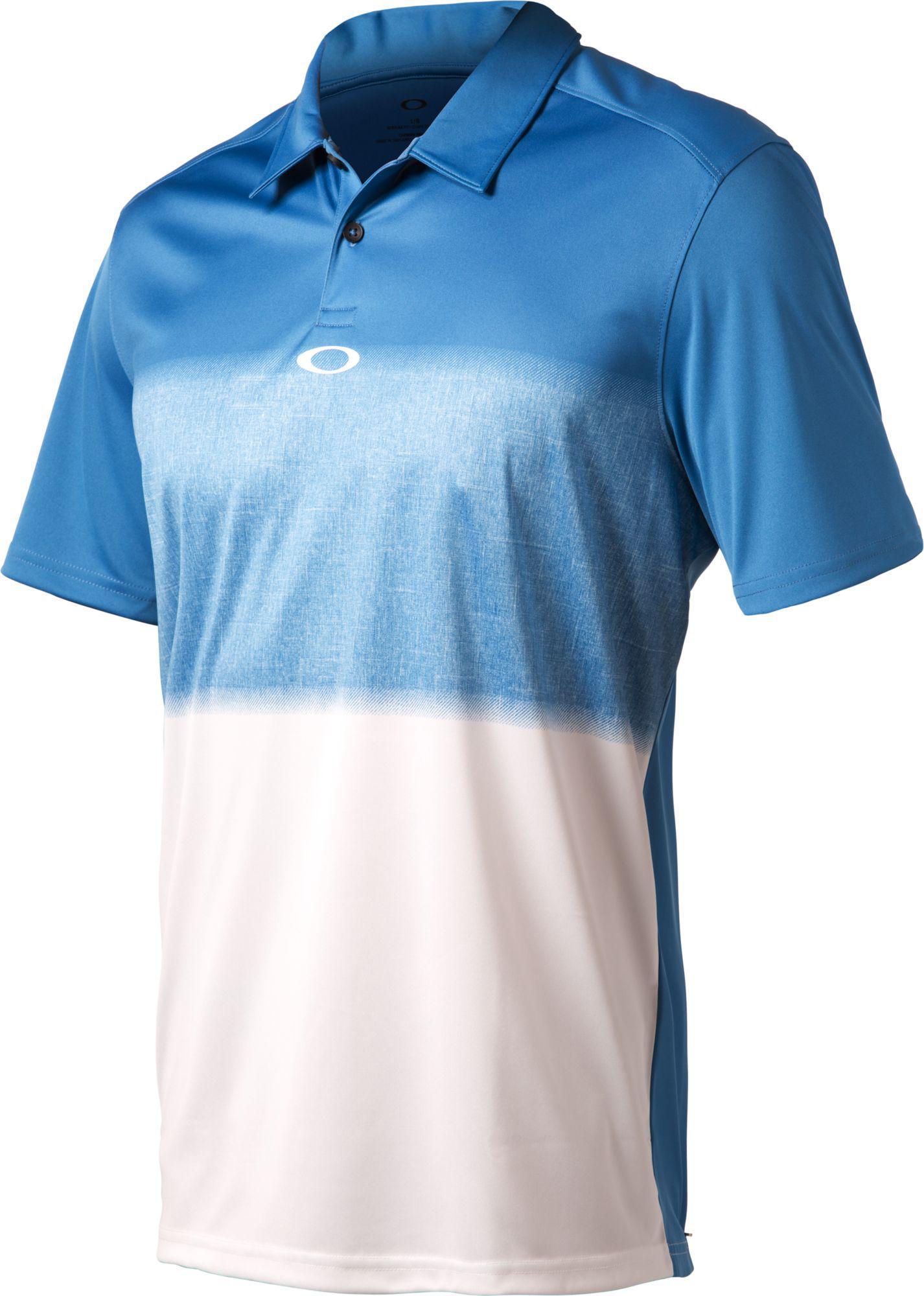Lyst Oakley Rothko Golf Polo In Blue For Men