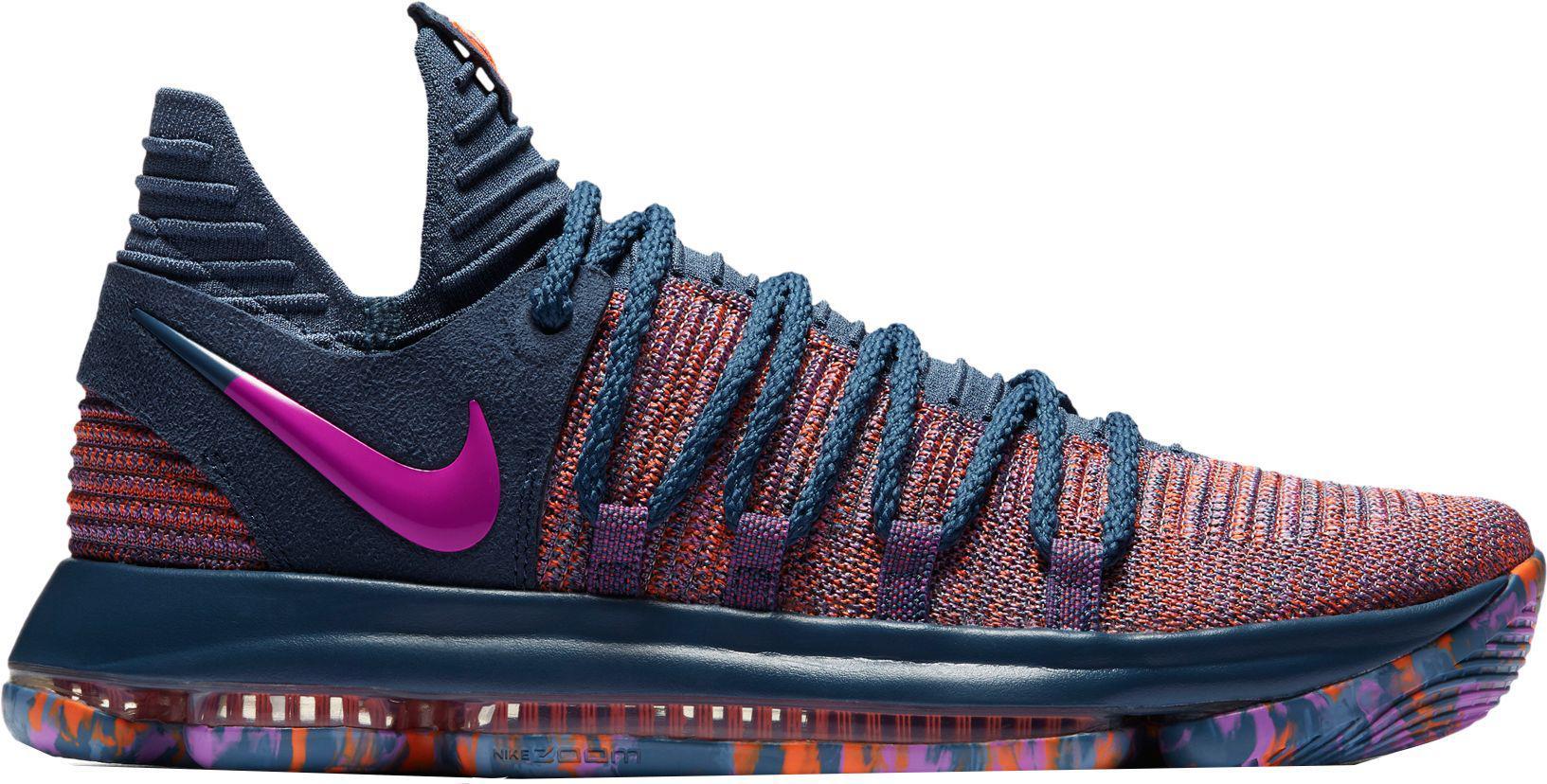 adb7e090ffe9 ... official store nike blue zoom kd 10 lmtd basketball shoes for men lyst  f2f83 4b8ea